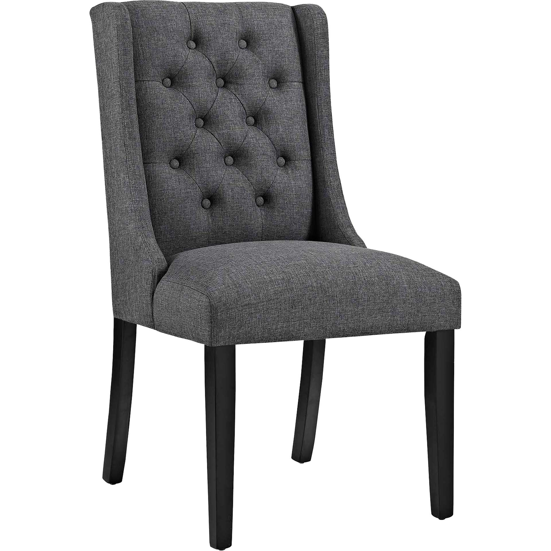 Baker Fabric Dining Chair Gray