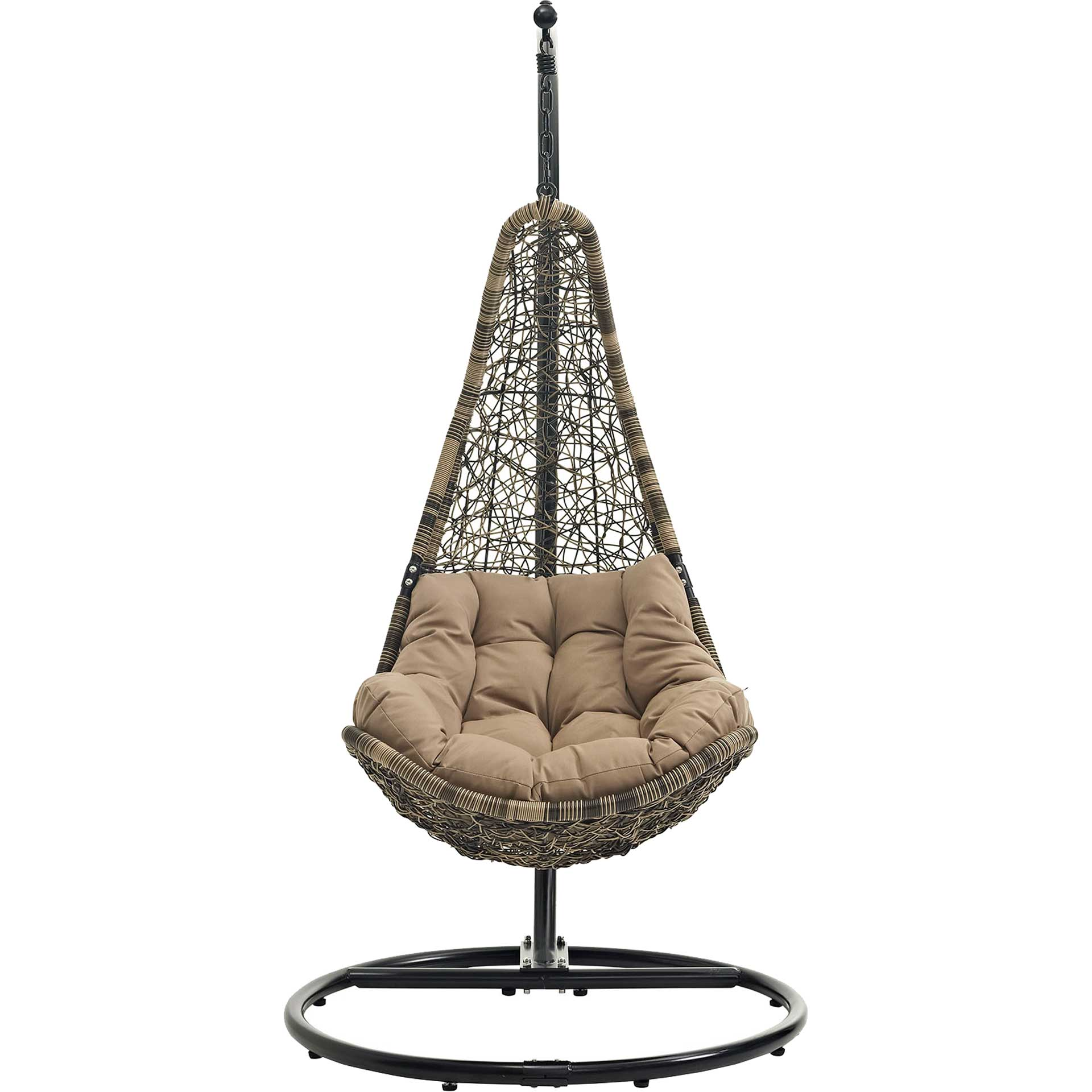 Attain Swing Chair With Stand Black Mocha