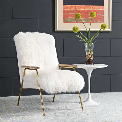 Sheepskin Armchair White