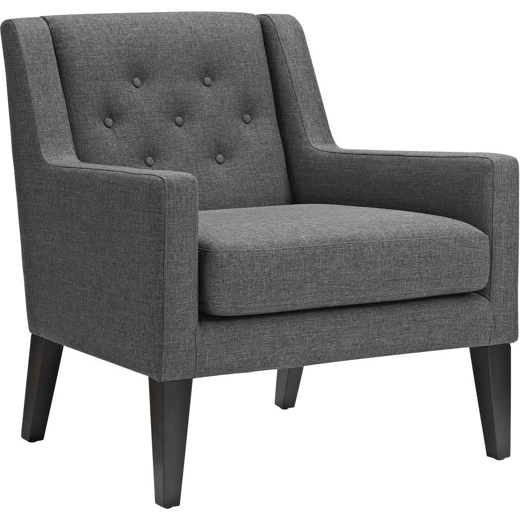 Eminence Fabric Armchair Gray