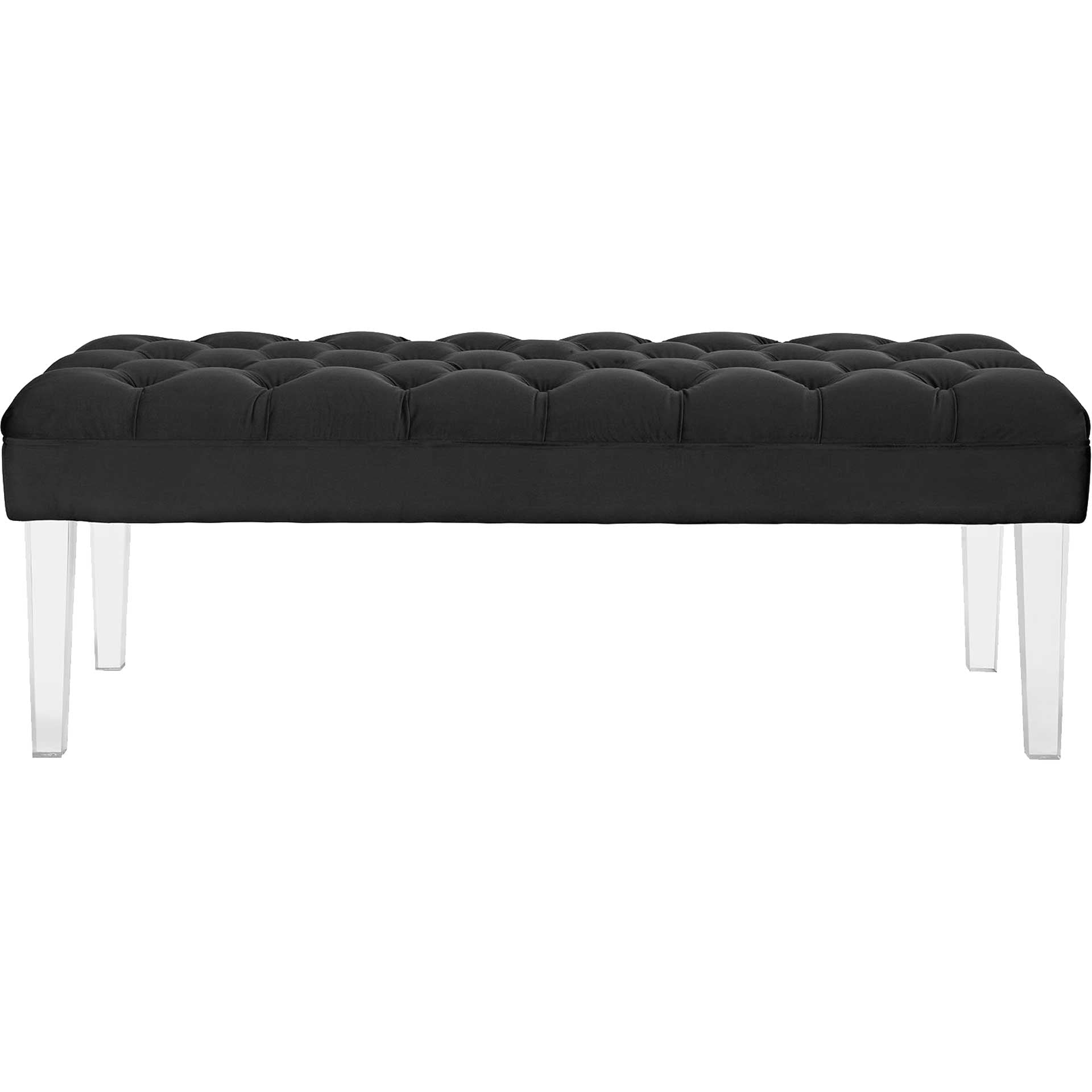 Vienna Velvet Bench Black