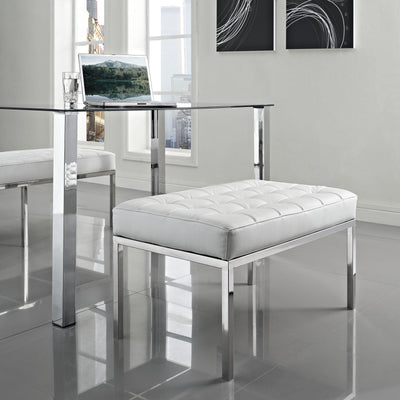 Lyte Two-Seater Bench White