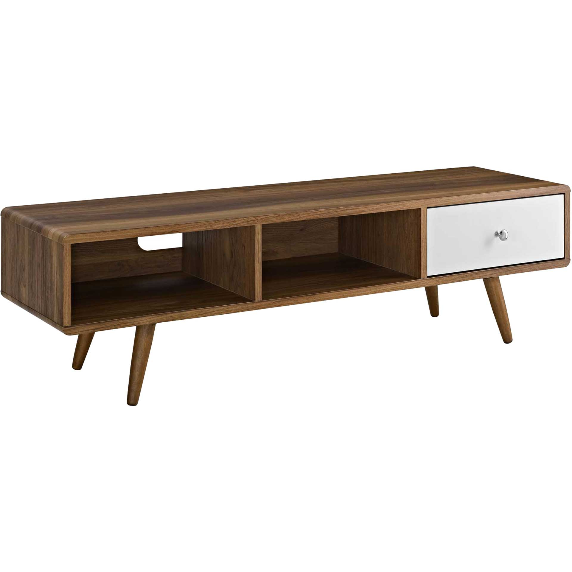 Tiffin TV Stand Walnut/White