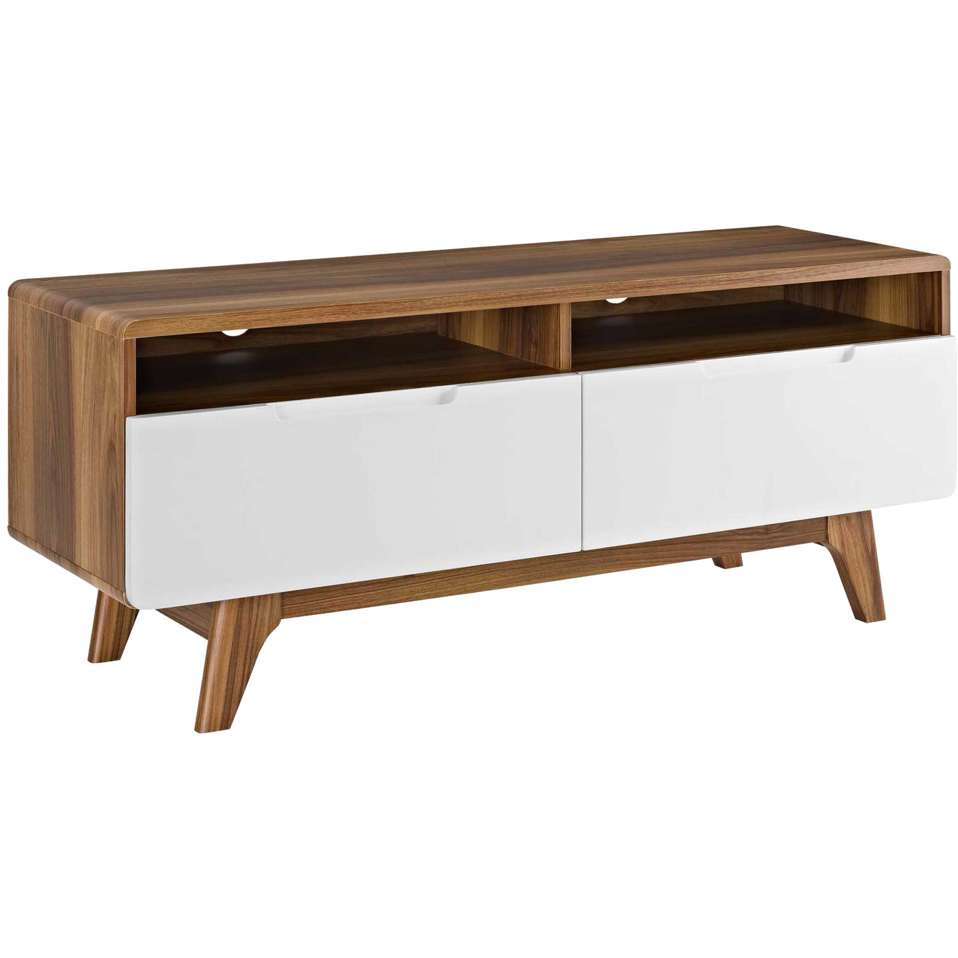 Orion TV Stand Walnut/White