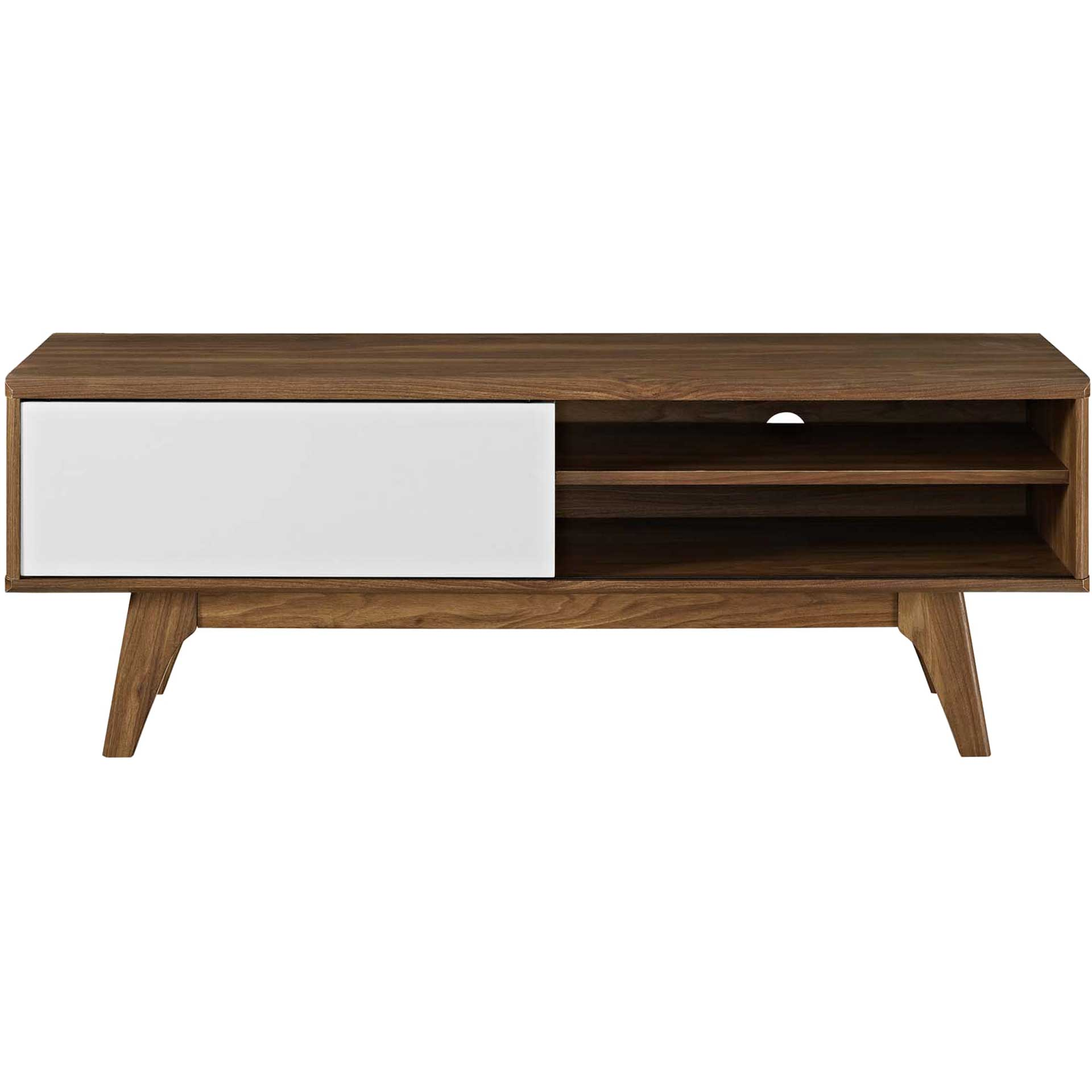 Encasa TV Stand Walnut/White