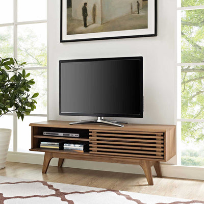 Reese Wood TV Stand Walnut