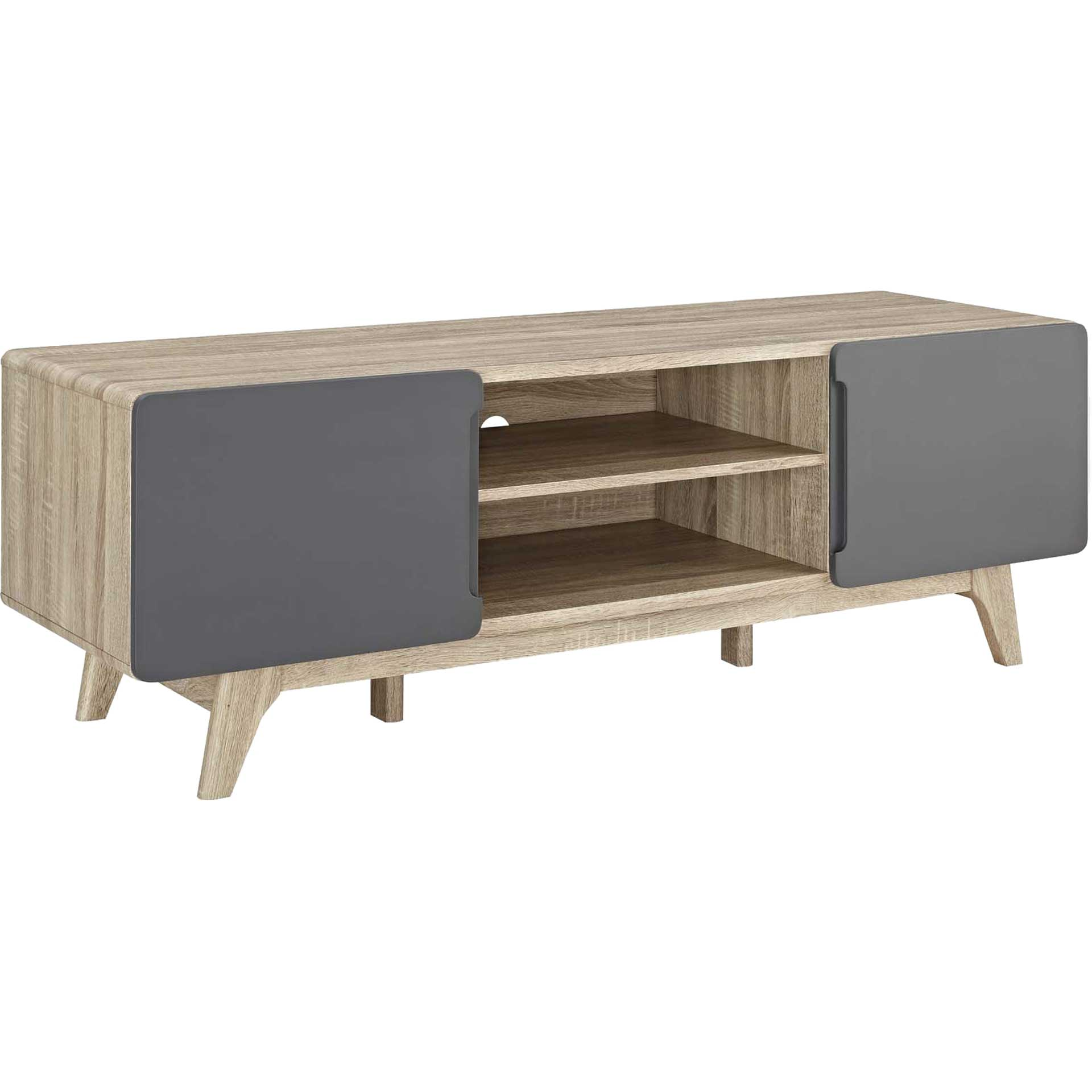 Titus TV Stand Natural Gray