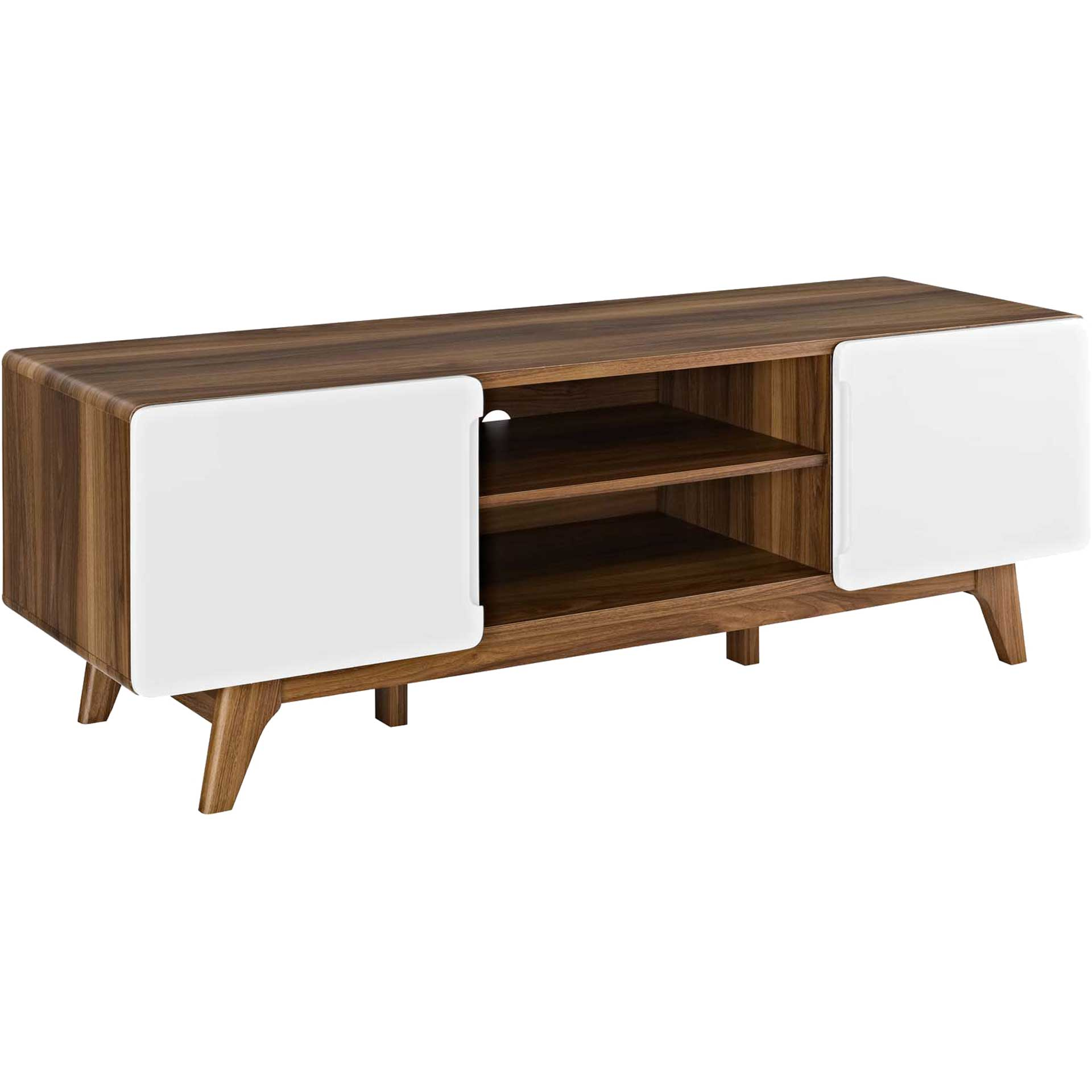 Titus TV Stand Walnut/White