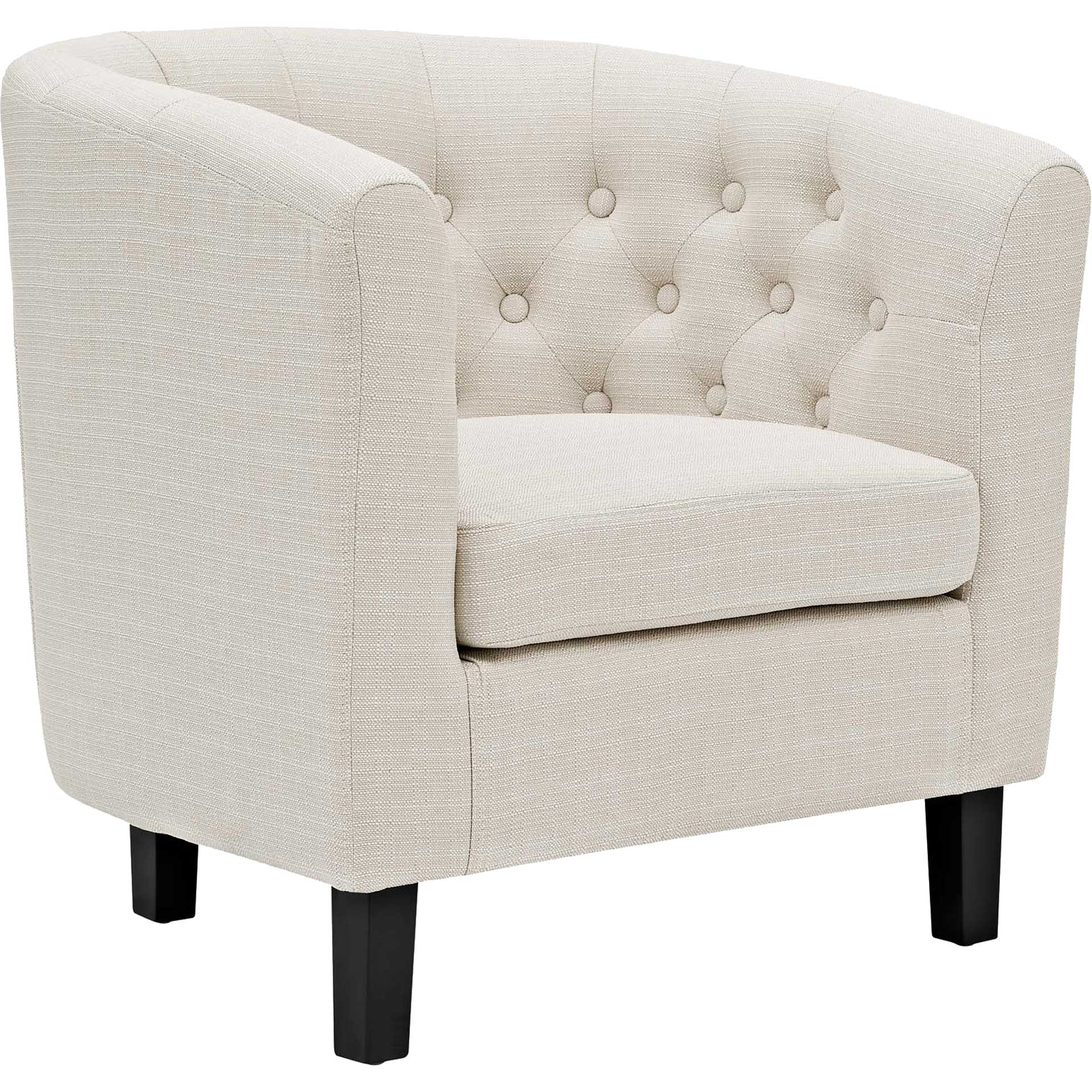 Paloma Upholstered Fabric Armchair Beige