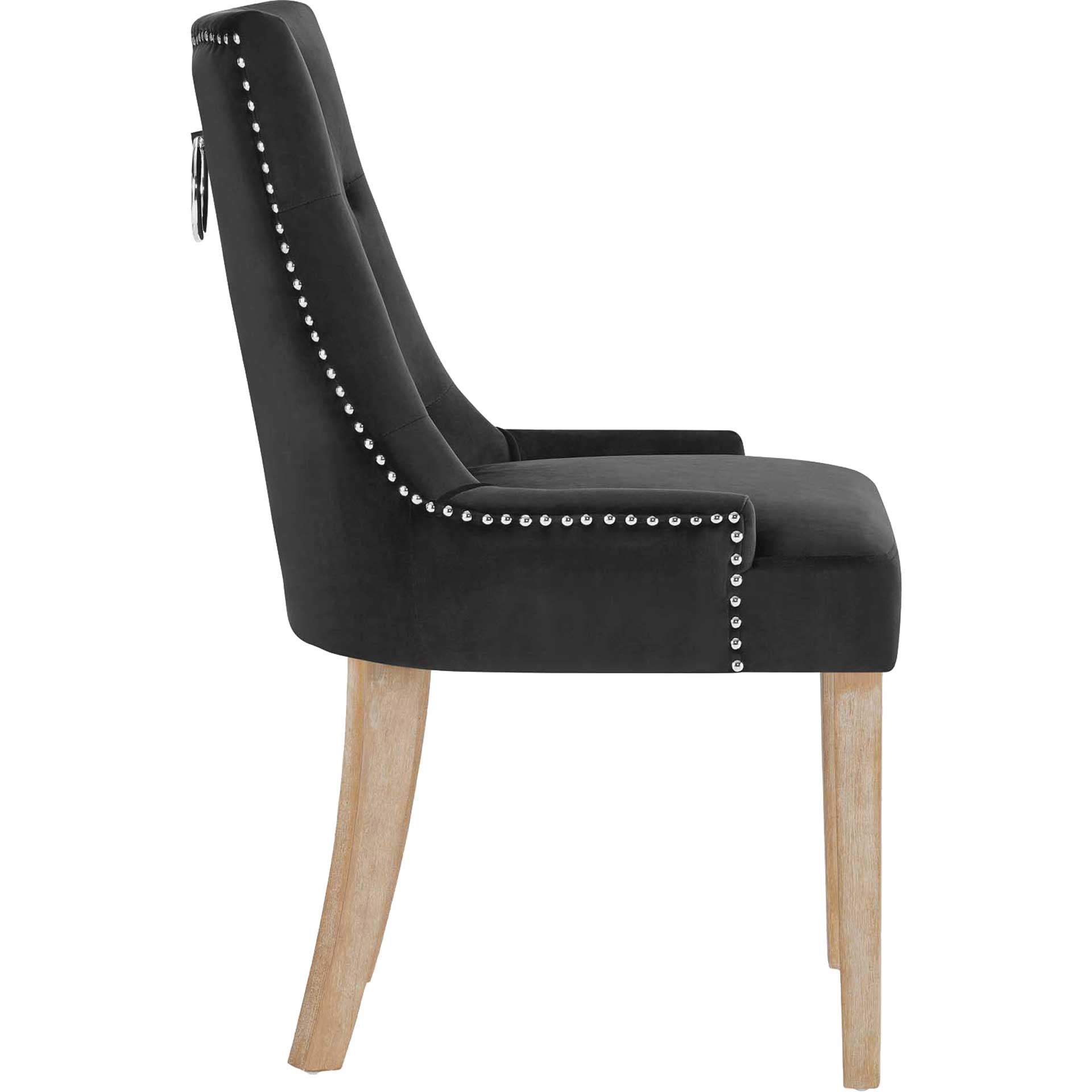 Preston Velvet Dining Chair Black