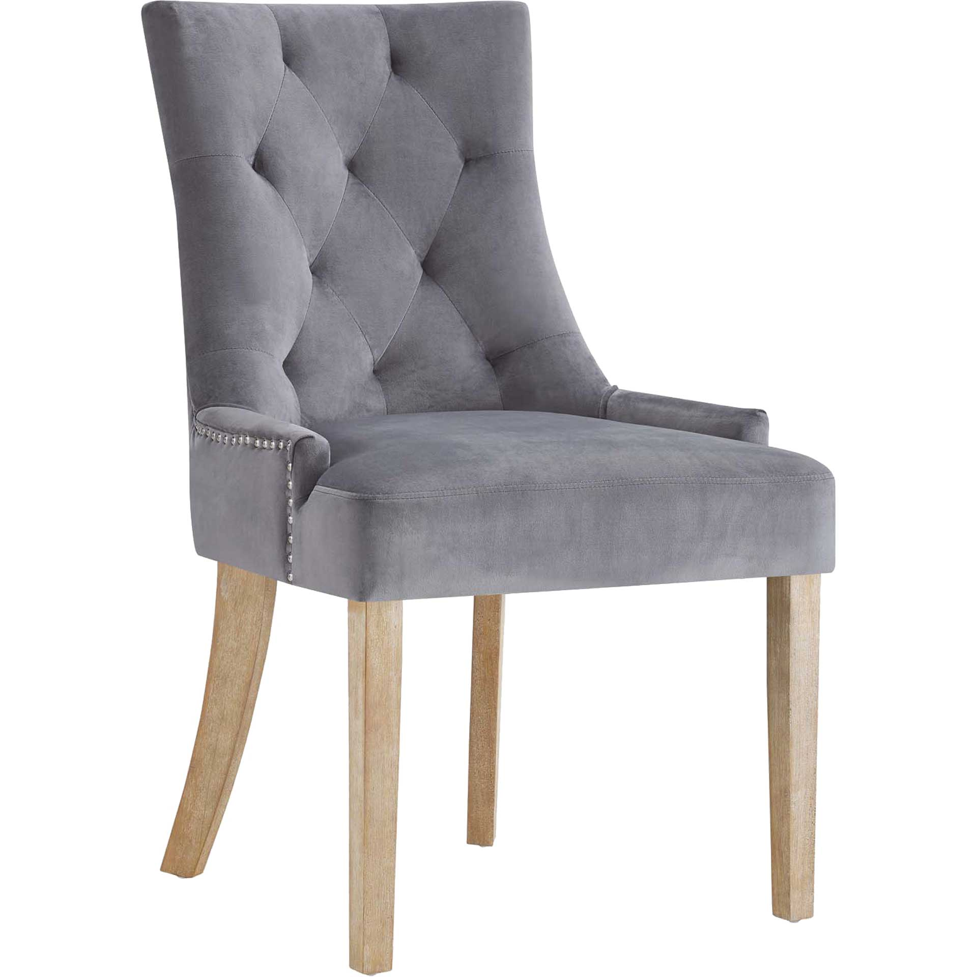 Preston Velvet Dining Chair Gray