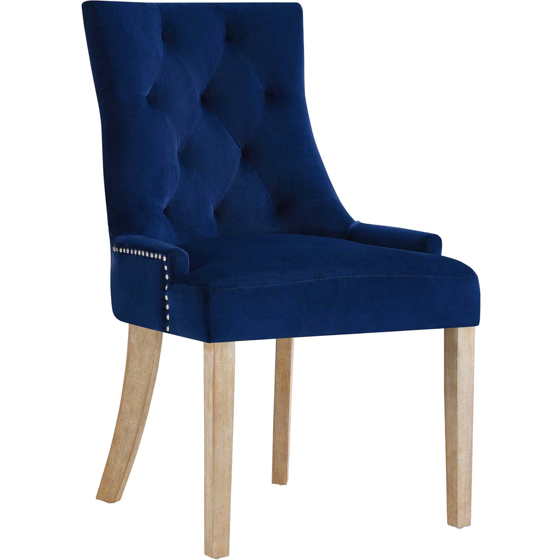 Preston Velvet Dining Chair Navy