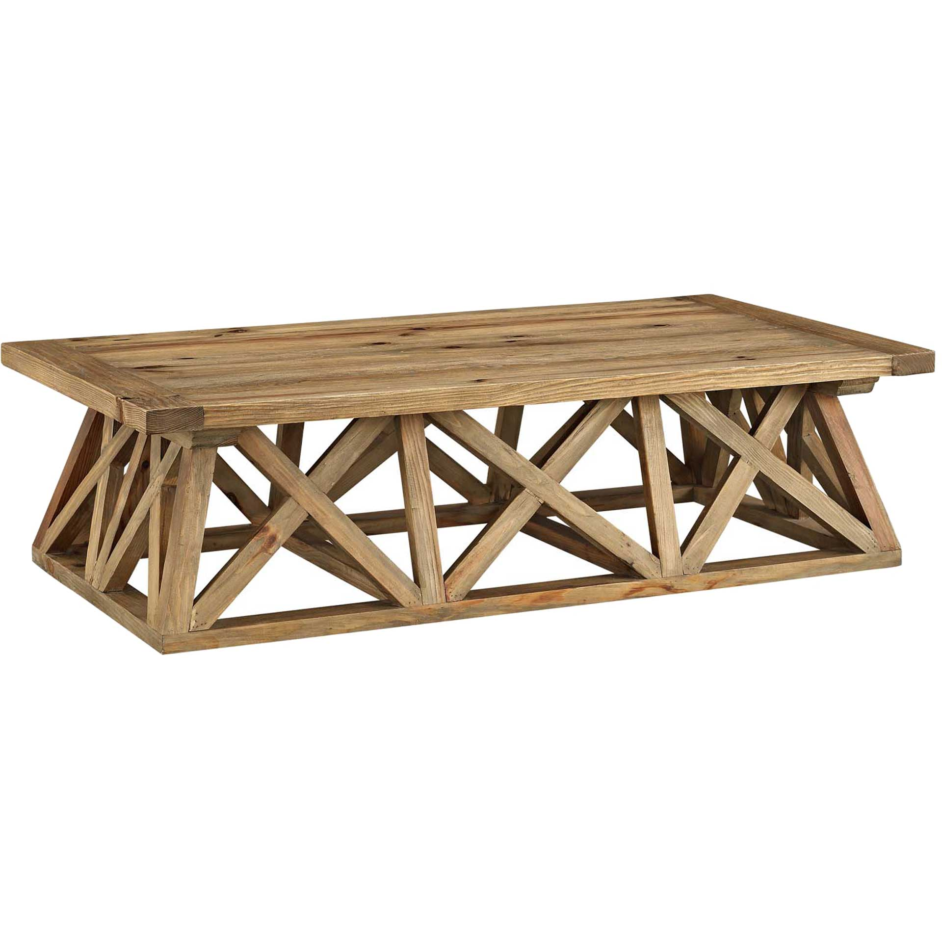 Calera Wood Coffee Table Brown