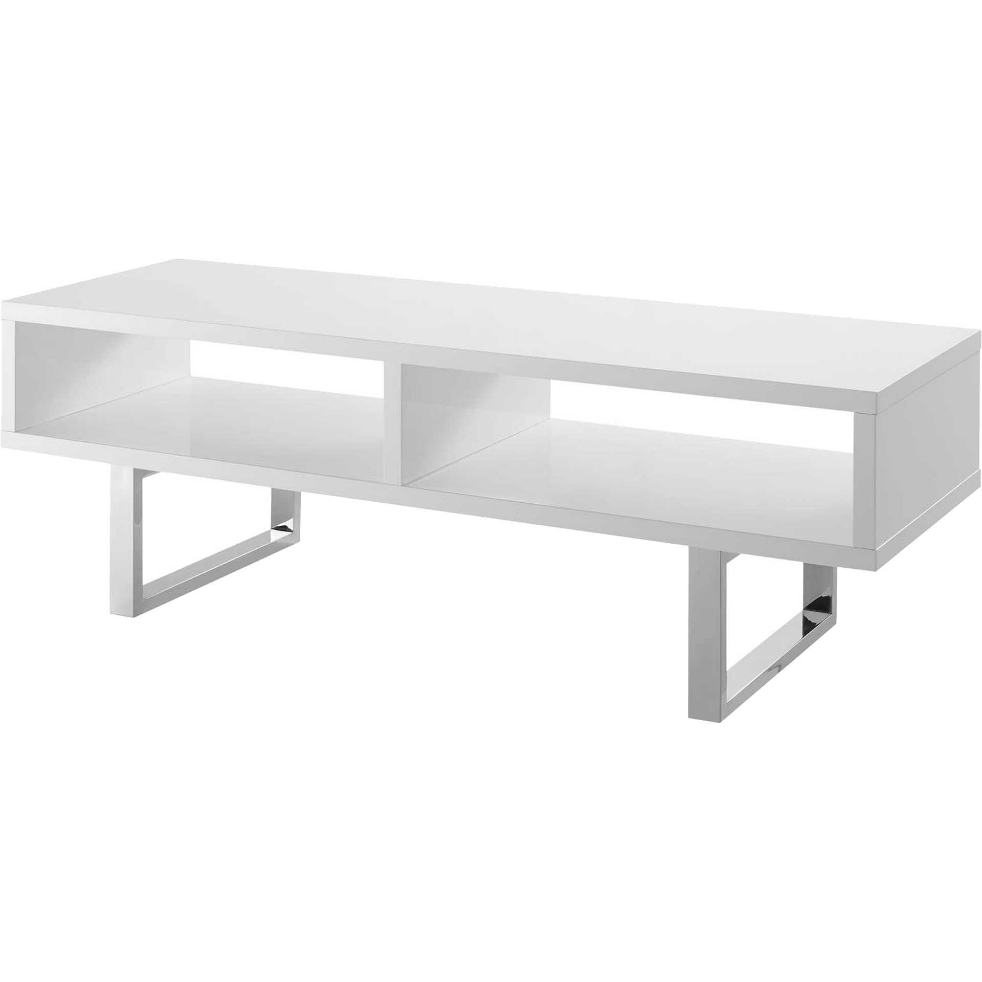 Arise Low Profile TV Stand White