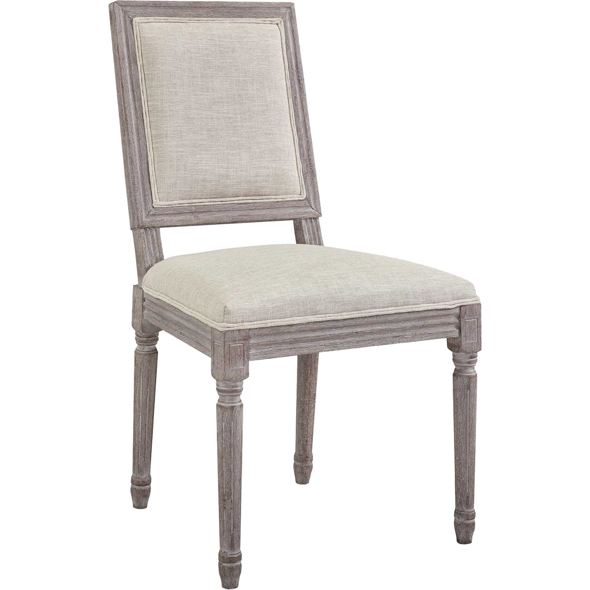 Canning Fabric Dining Side Chair Beige