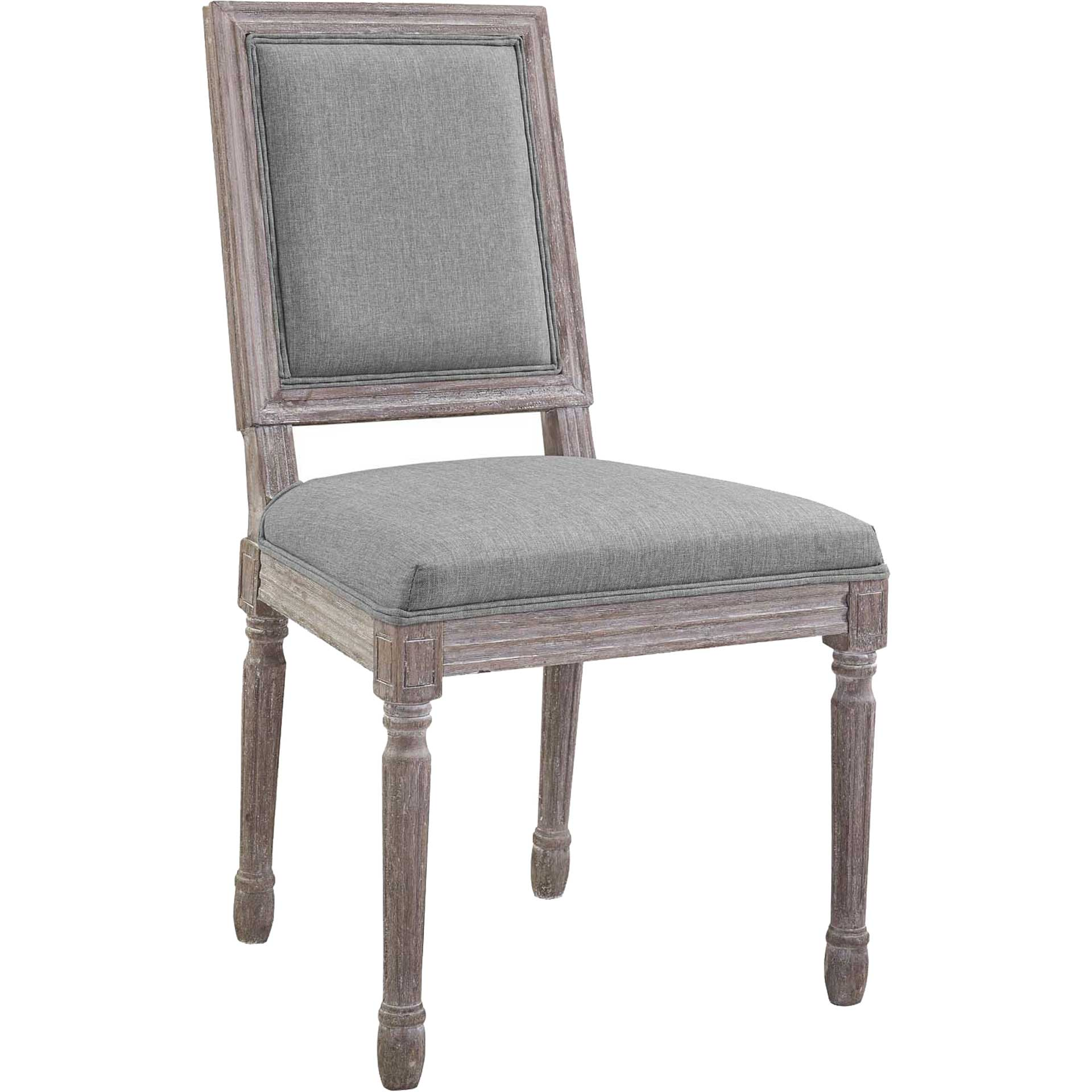 Canning Fabric Dining Side Chair Light Gray