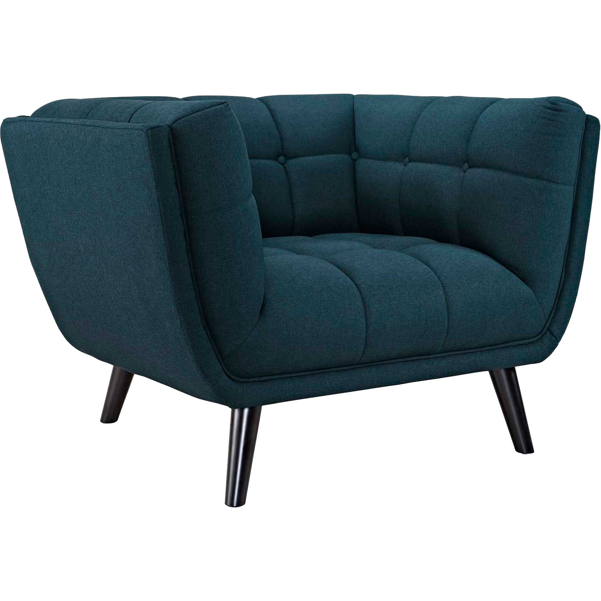 Banister Upholstered Fabric Armchair Blue