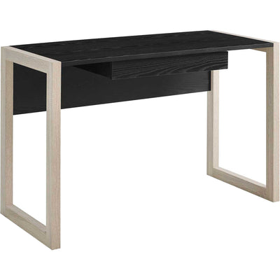 Bella Wood Writing Desk Natural Black