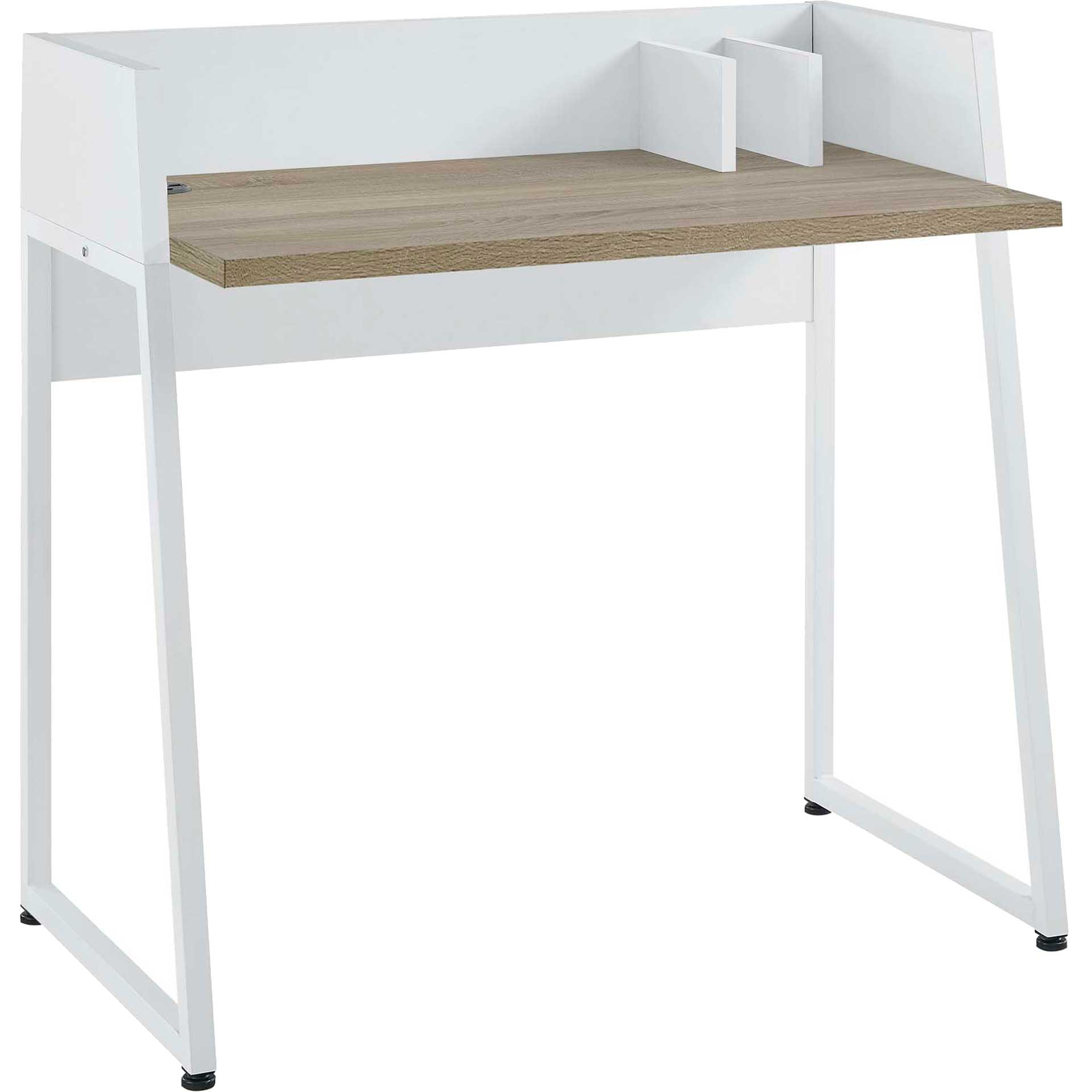 Reedy Wood Writing Desk White Natural