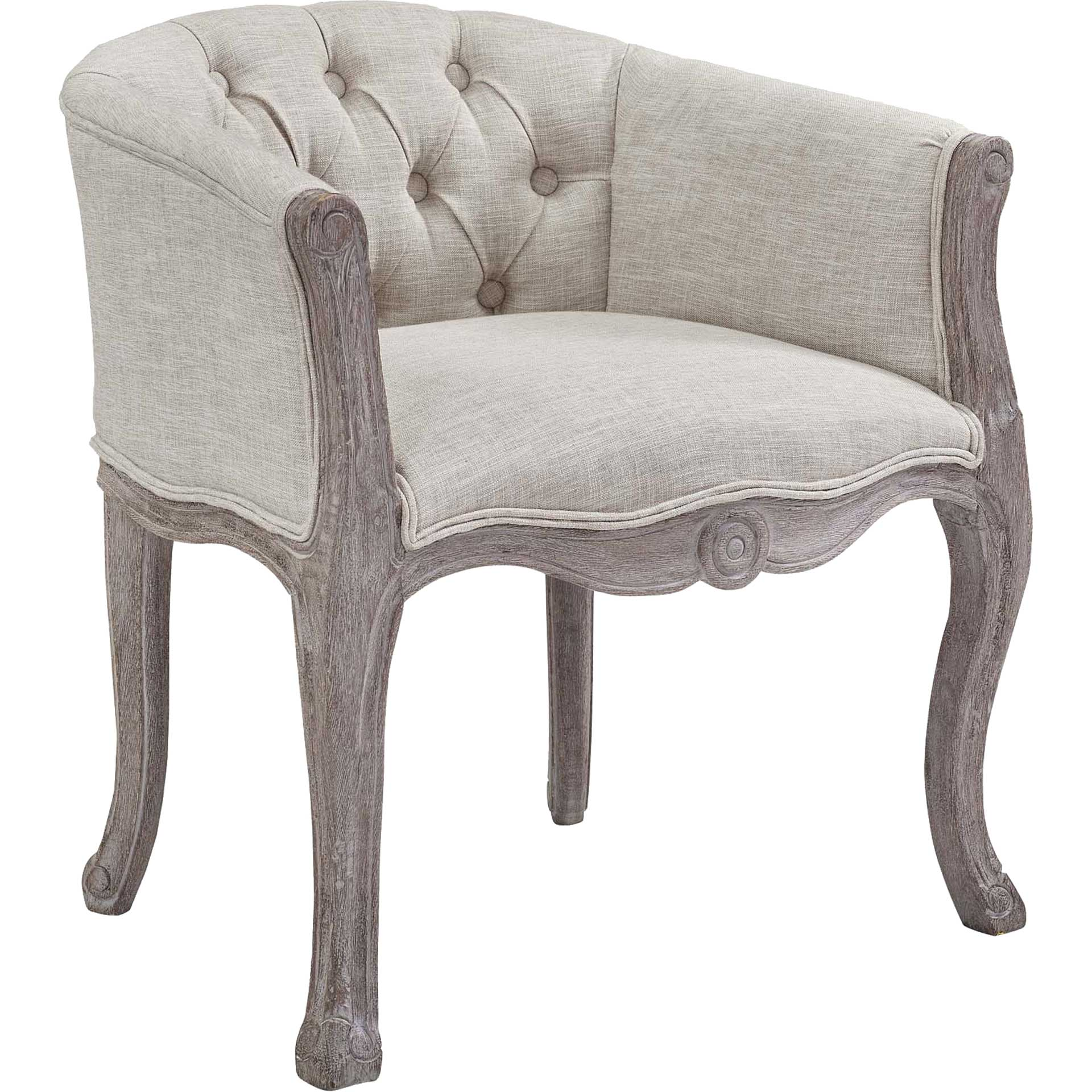 Class Upholstered Fabric Dining Armchair Beige