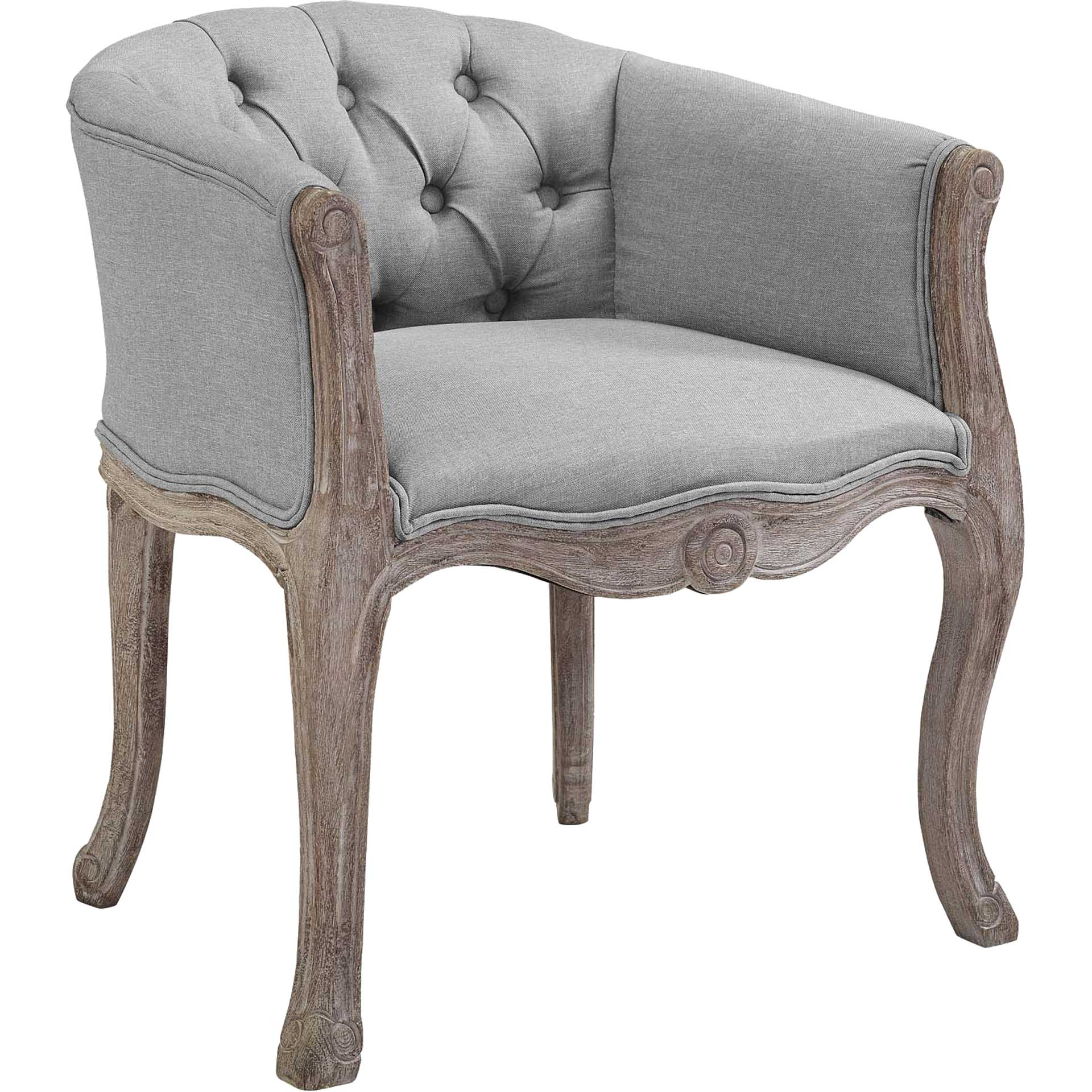 Class Upholstered Fabric Dining Armchair Light Gray