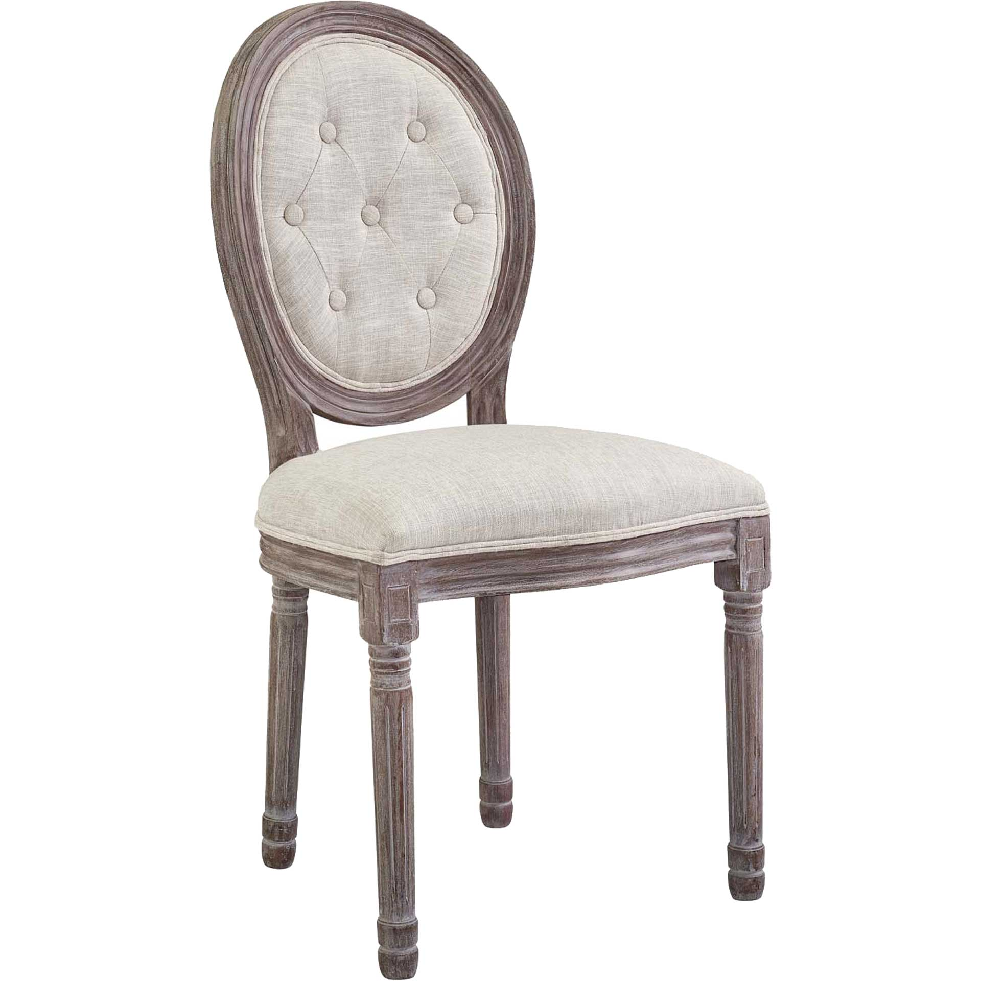 Arturo Fabric Side Chair Beige
