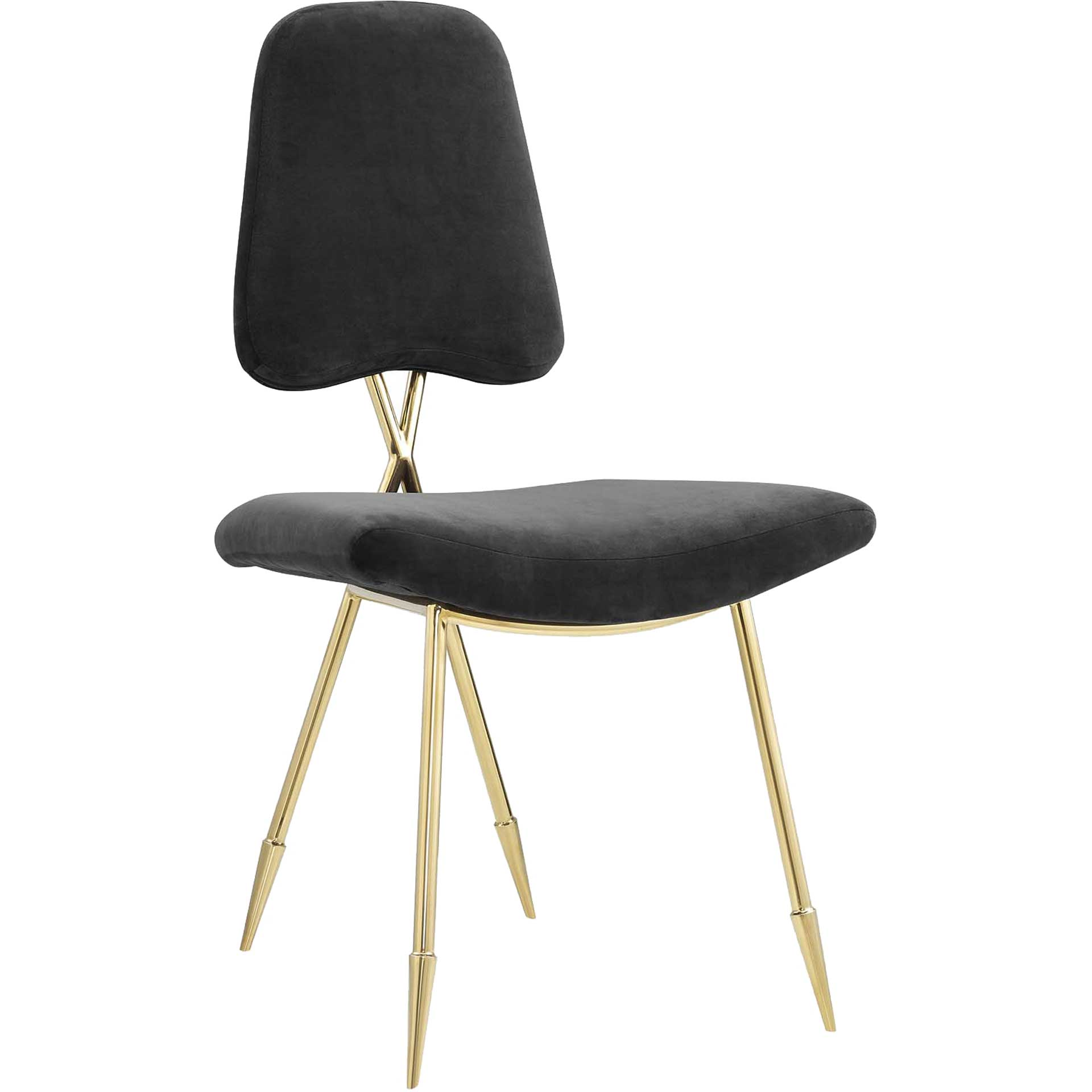 Palmer Upholstered Velvet Side Chair Black