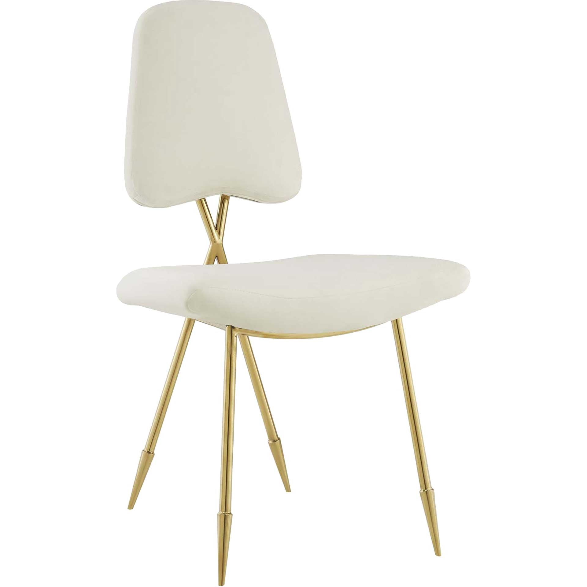 Palmer Upholstered Velvet Side Chair Ivory