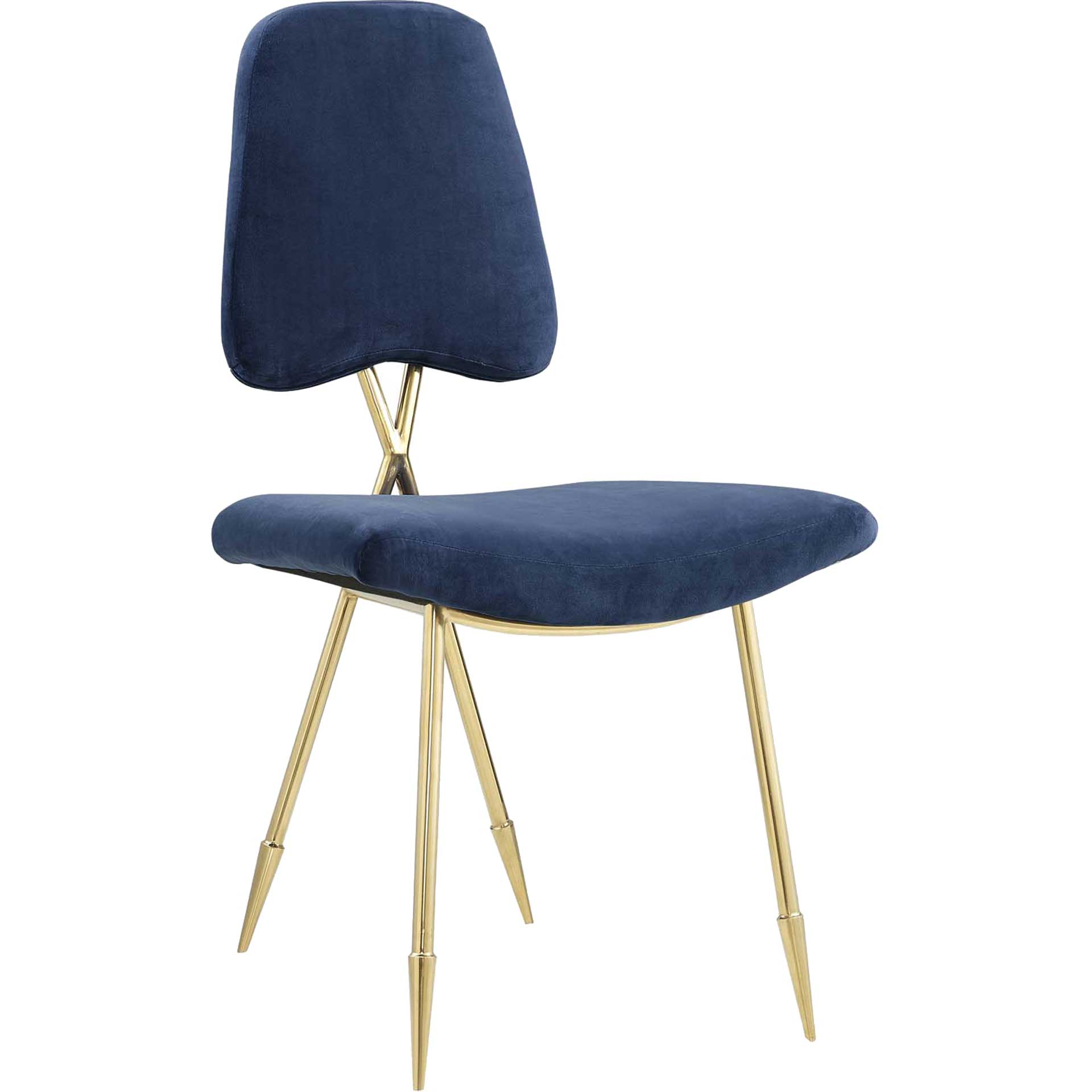 Palmer Upholstered Velvet Side Chair Navy