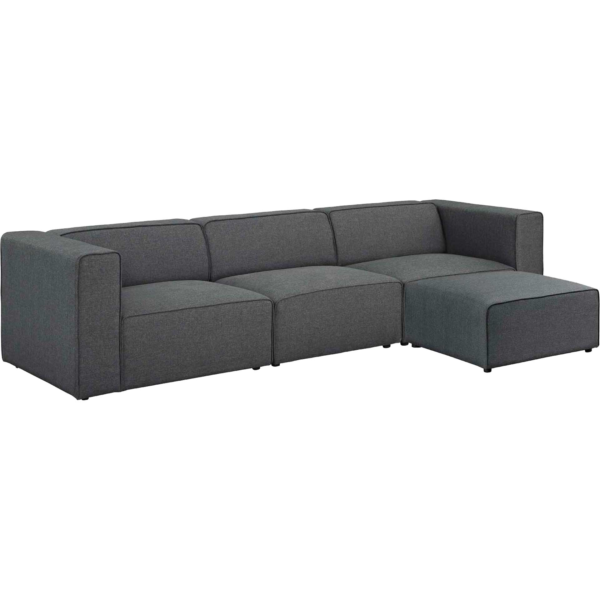 Maisie 4 Piece Sectional Sofa Gray