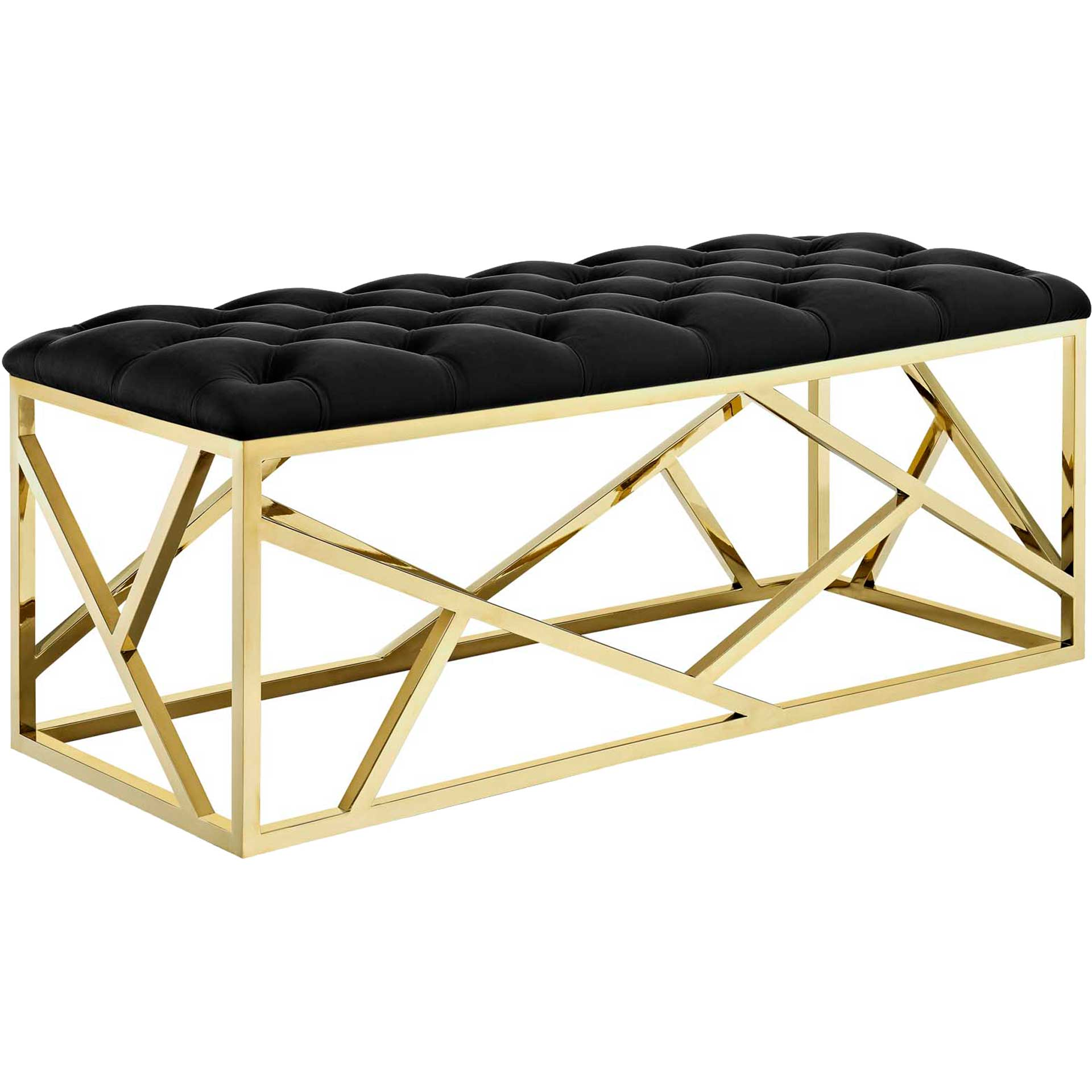 Ismael Bench Gold/Black