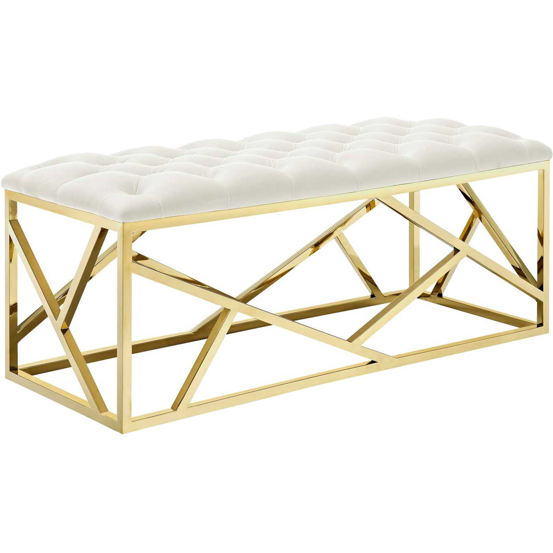 Ismael Bench Gold/Ivory