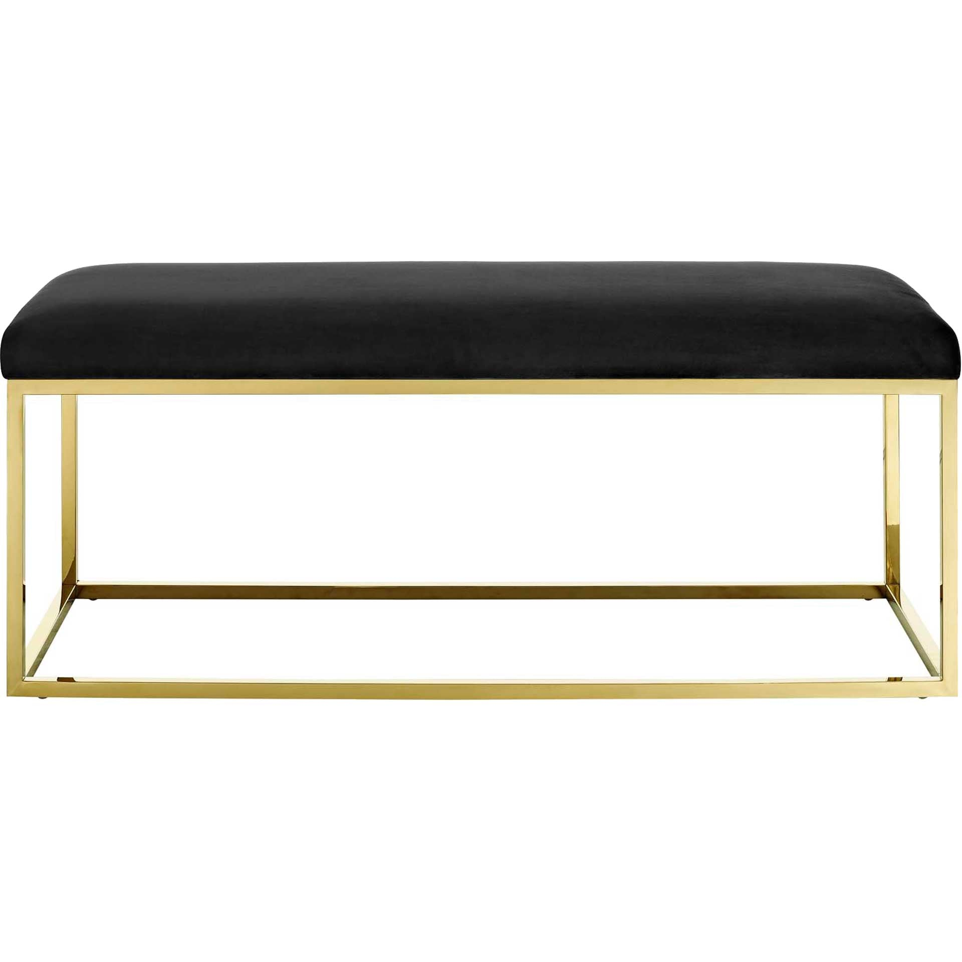 Alden Fabric Bench Gold/Black