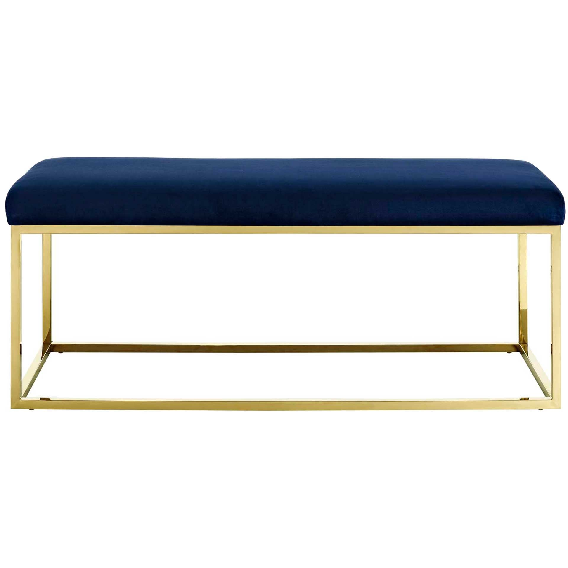 Alden Fabric Bench Gold/Navy