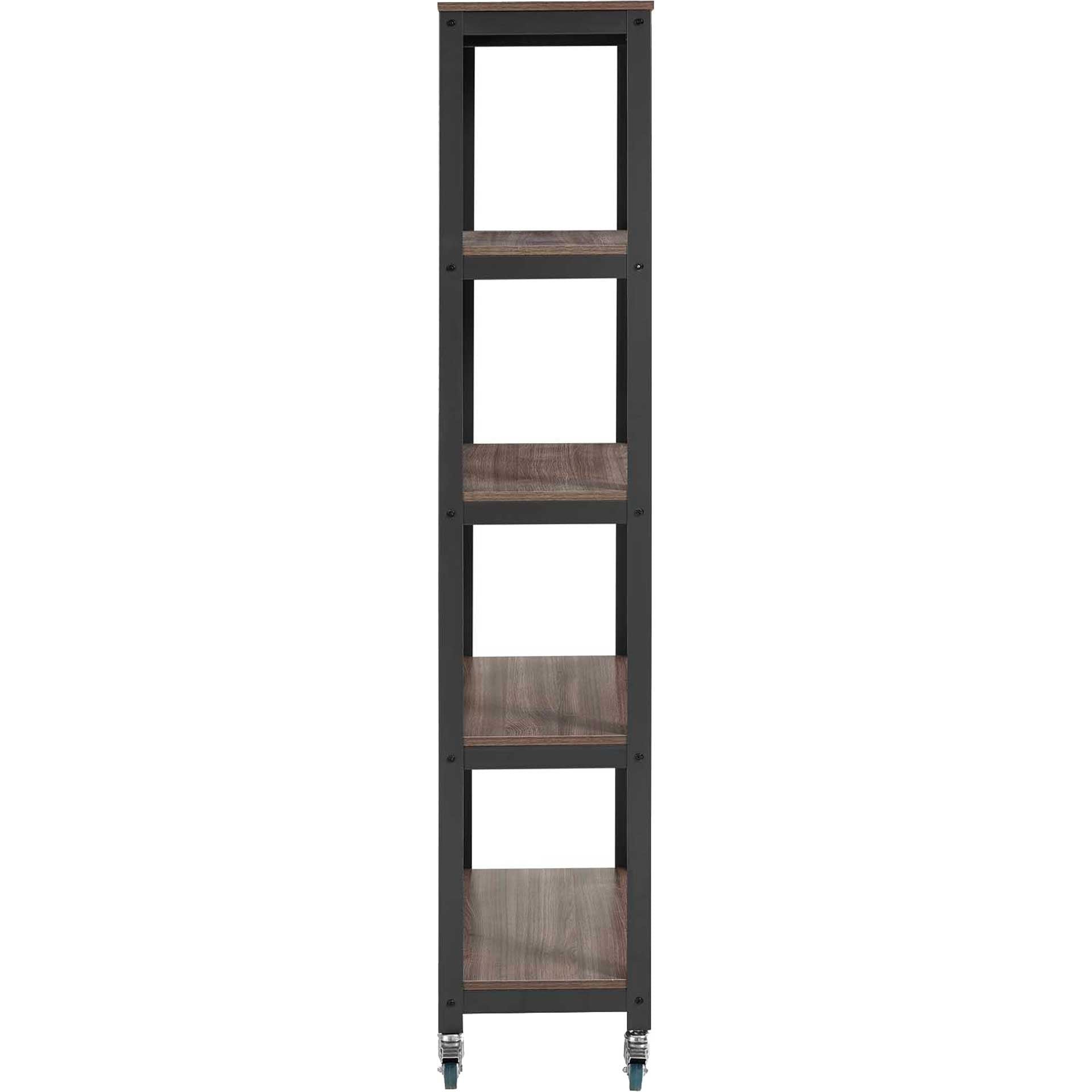 Ventura Bookcase Gray/Walnut