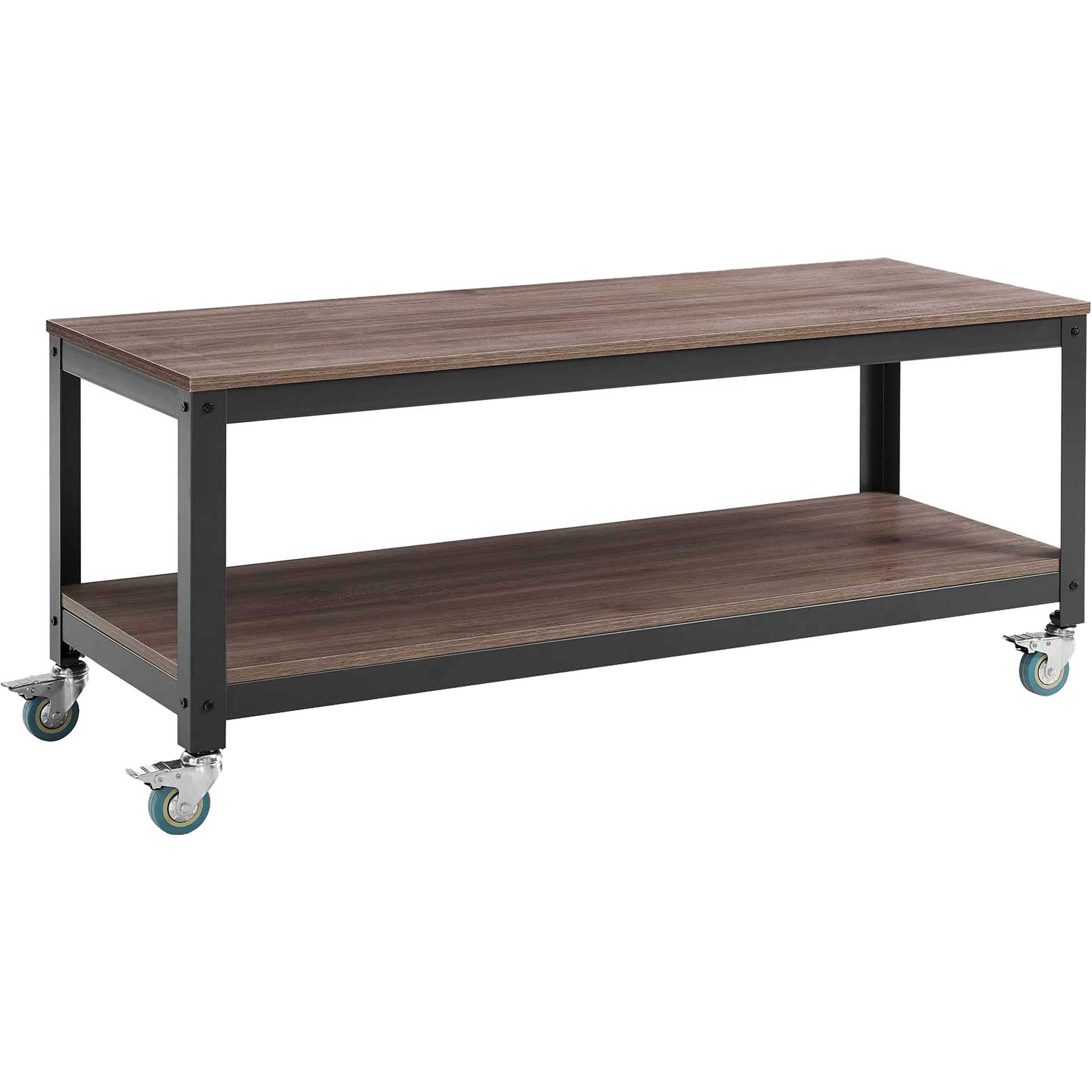 Ventura Tiered TV Stand Gray/Walnut