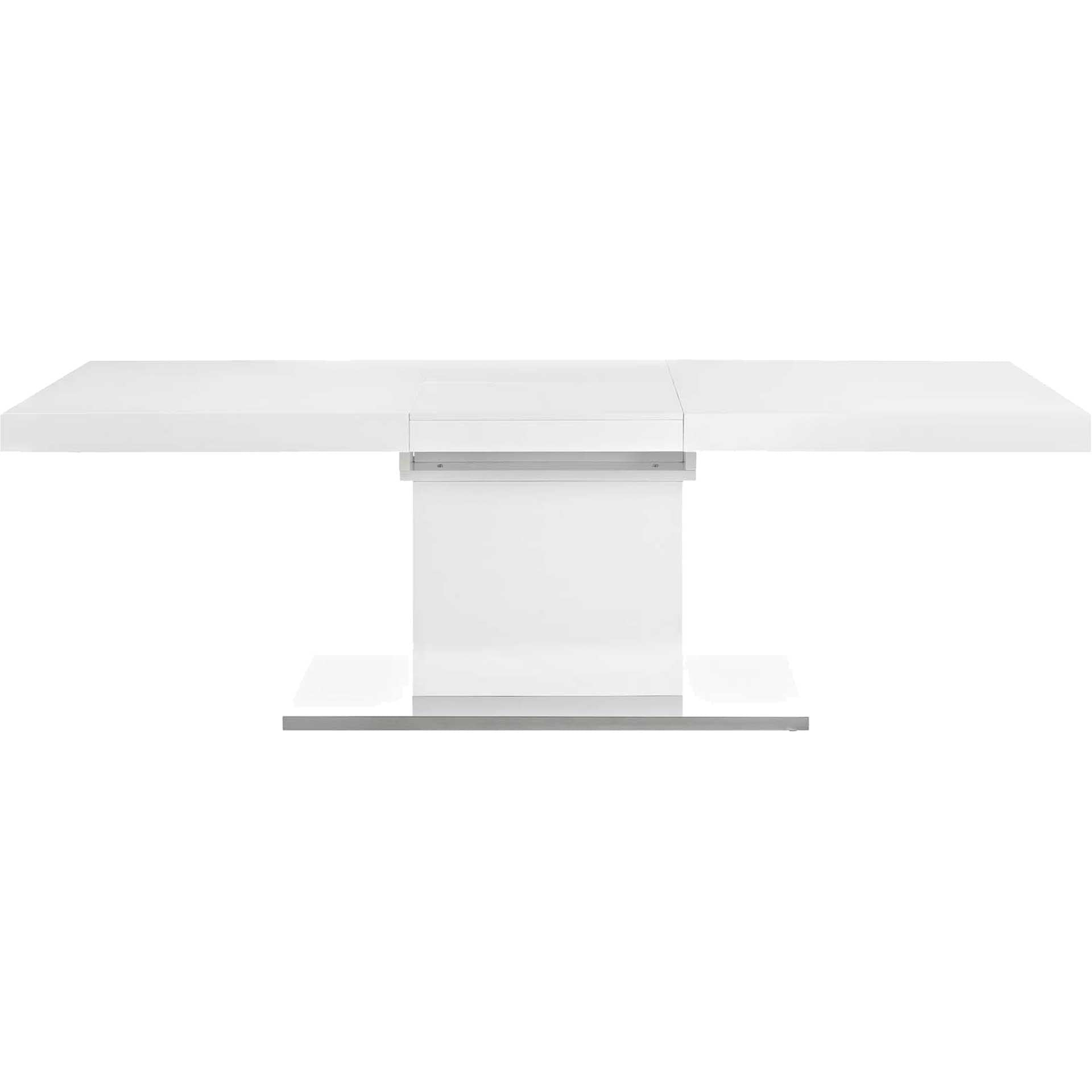 Valentino Expandable Dining Table White/Silver