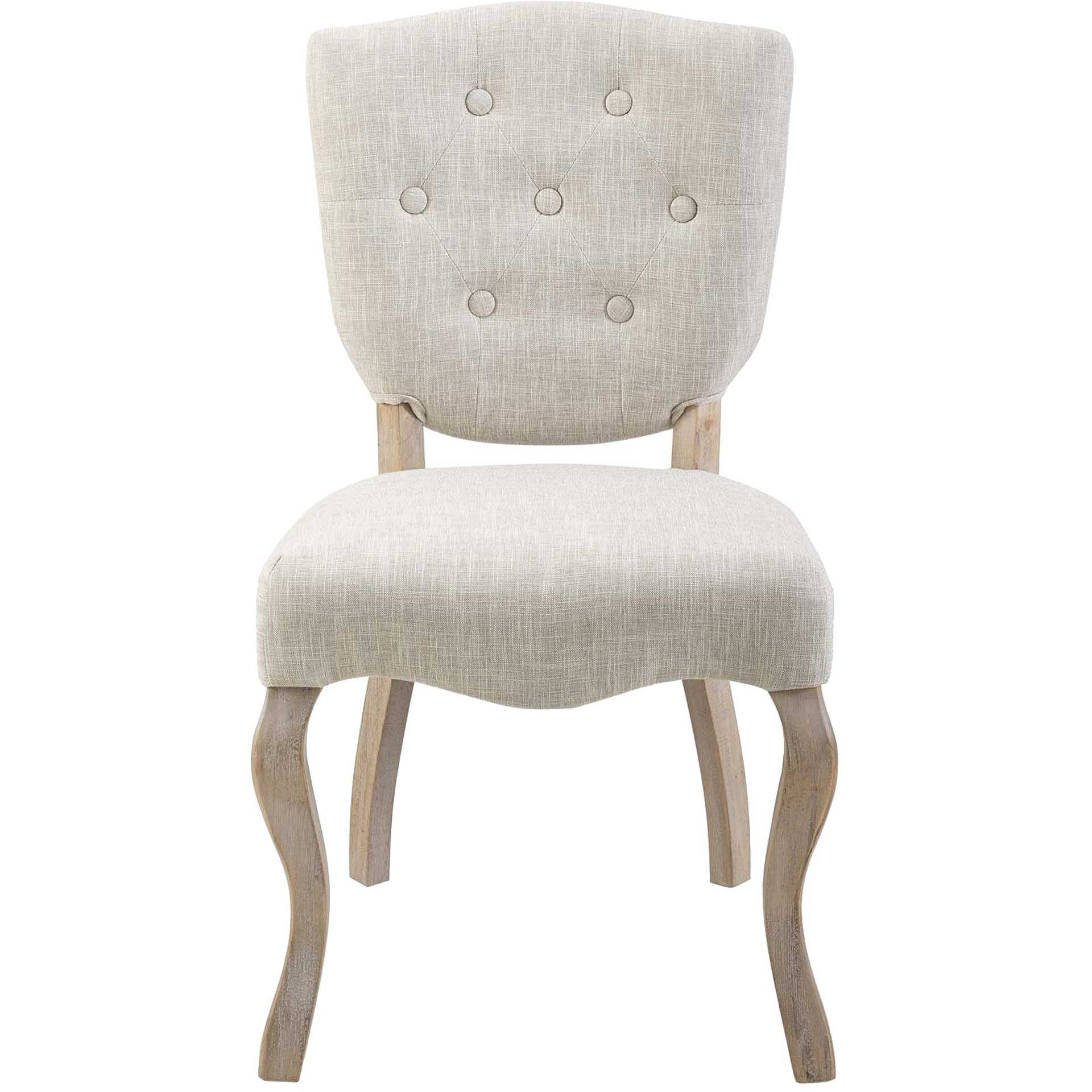 Angie Upholstered Dining Side Chair Beige