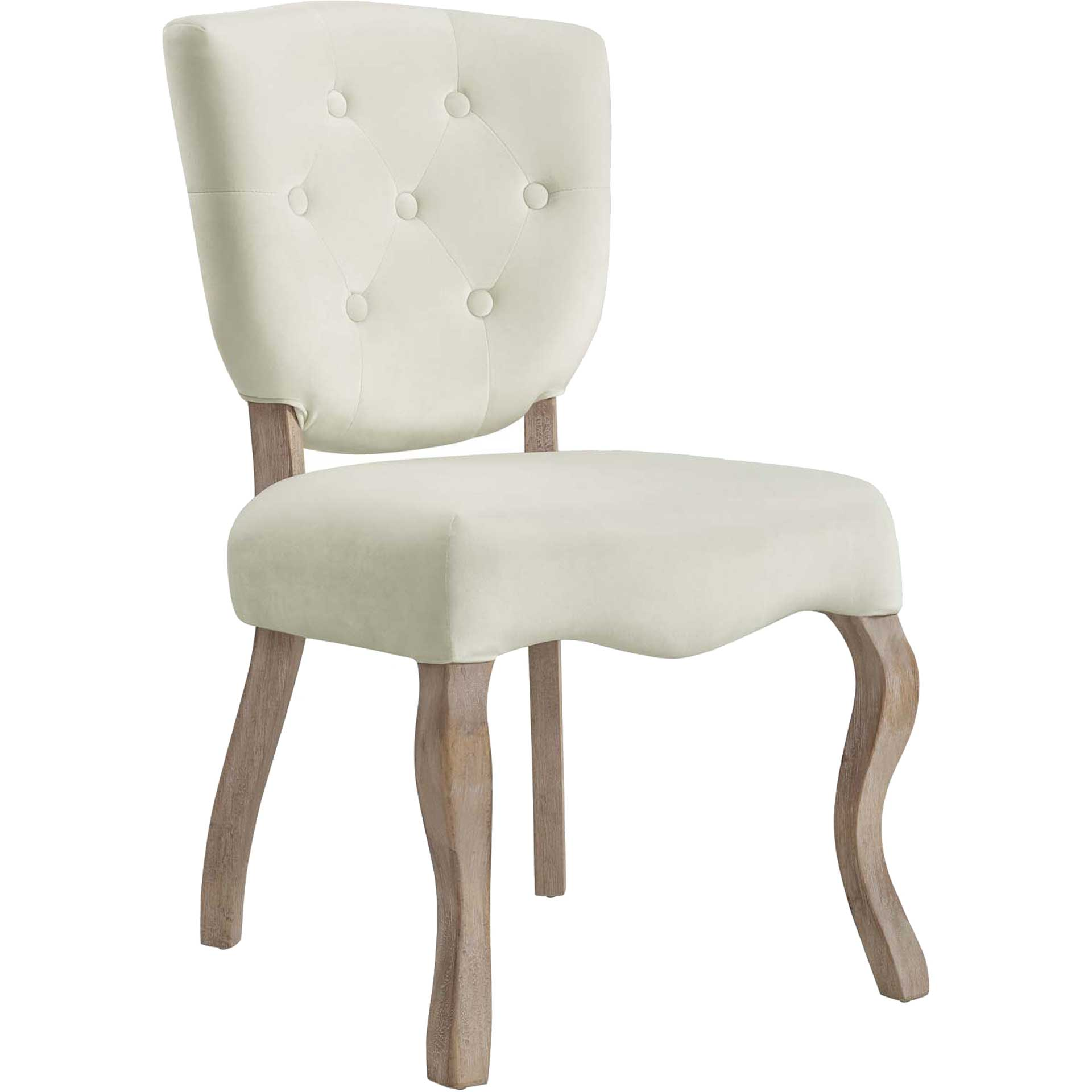 Angie Velvet Dining Side Chair Ivory