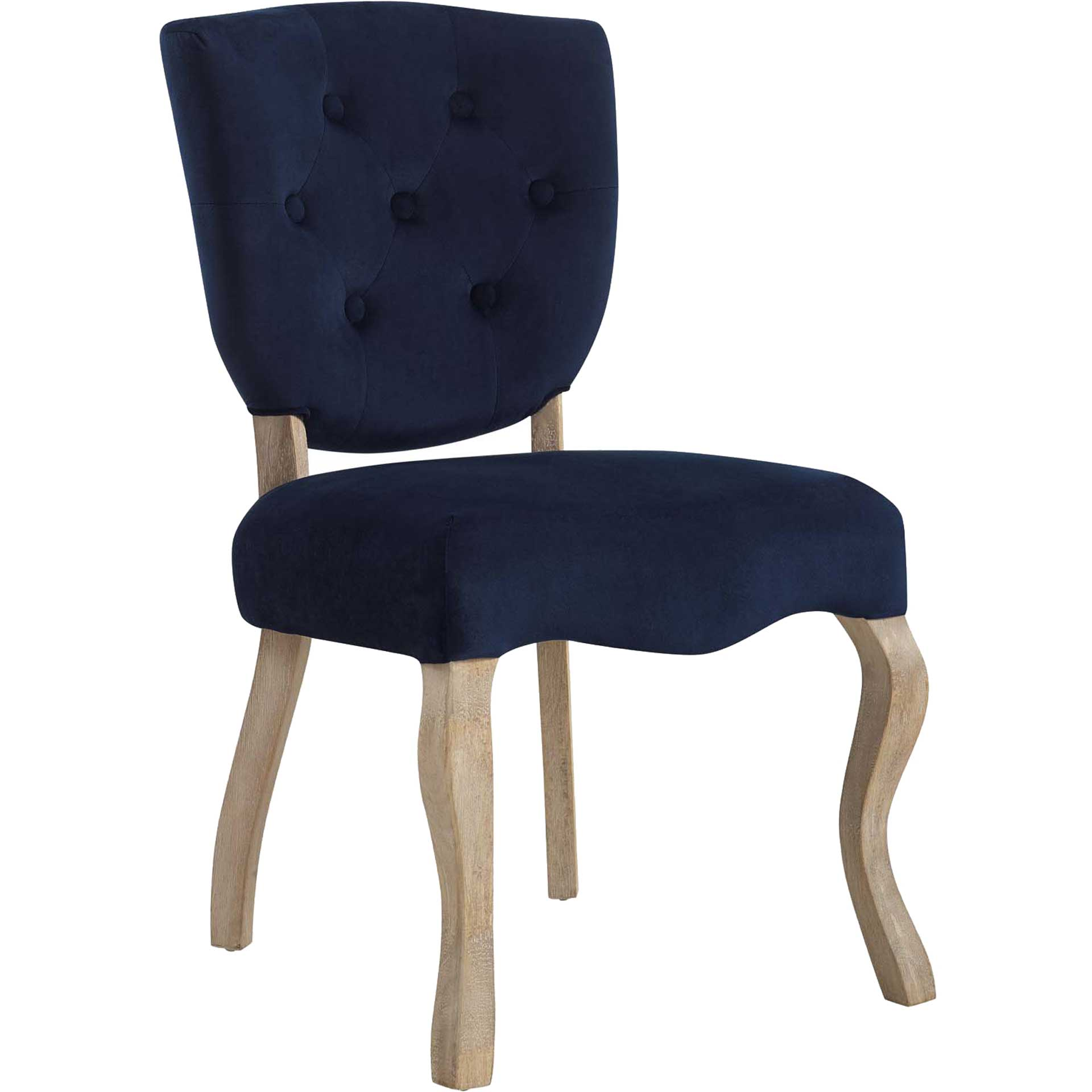 Angie Velvet Dining Side Chair Midnight Blue