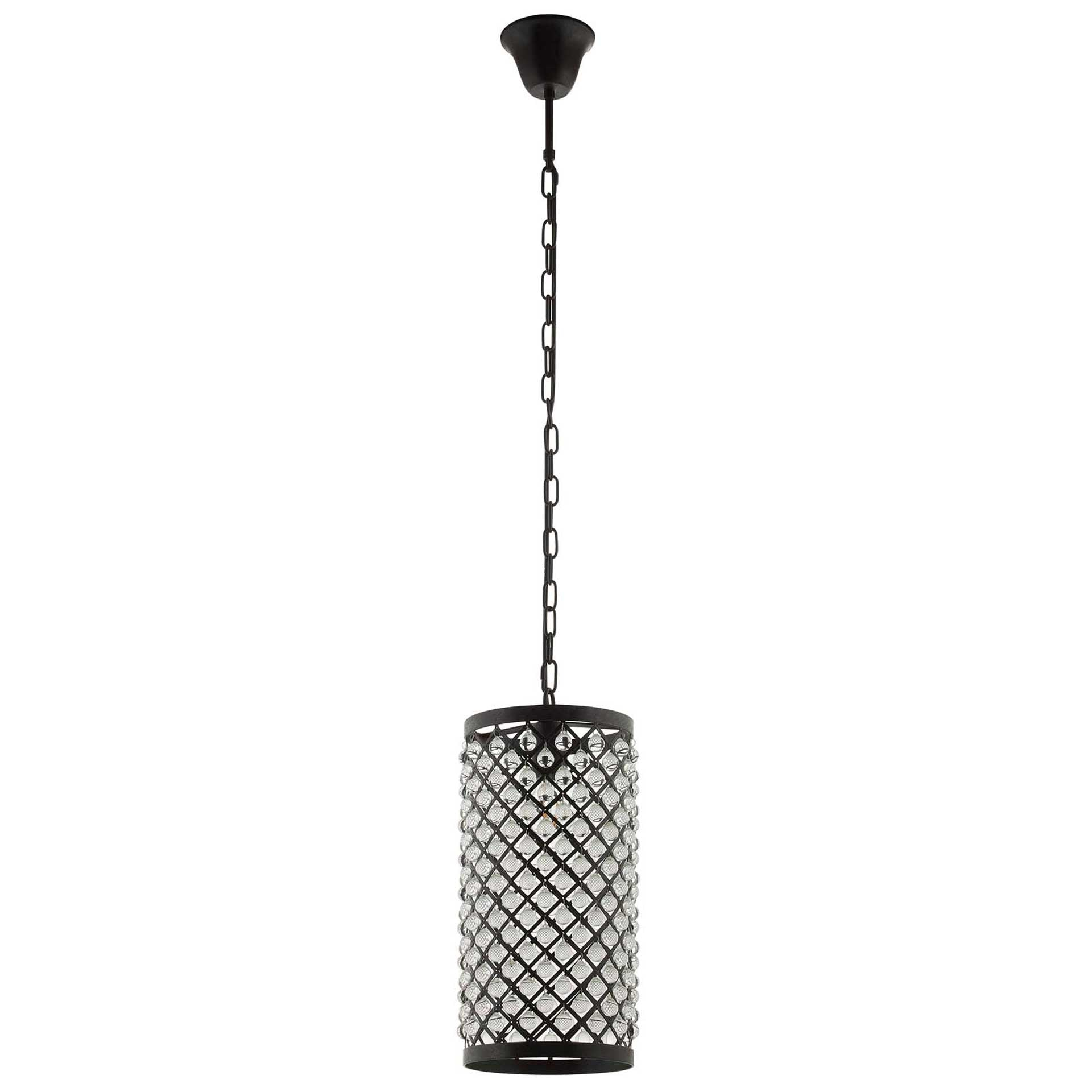 Remington Glass and Metal Pendant Chandelier Black