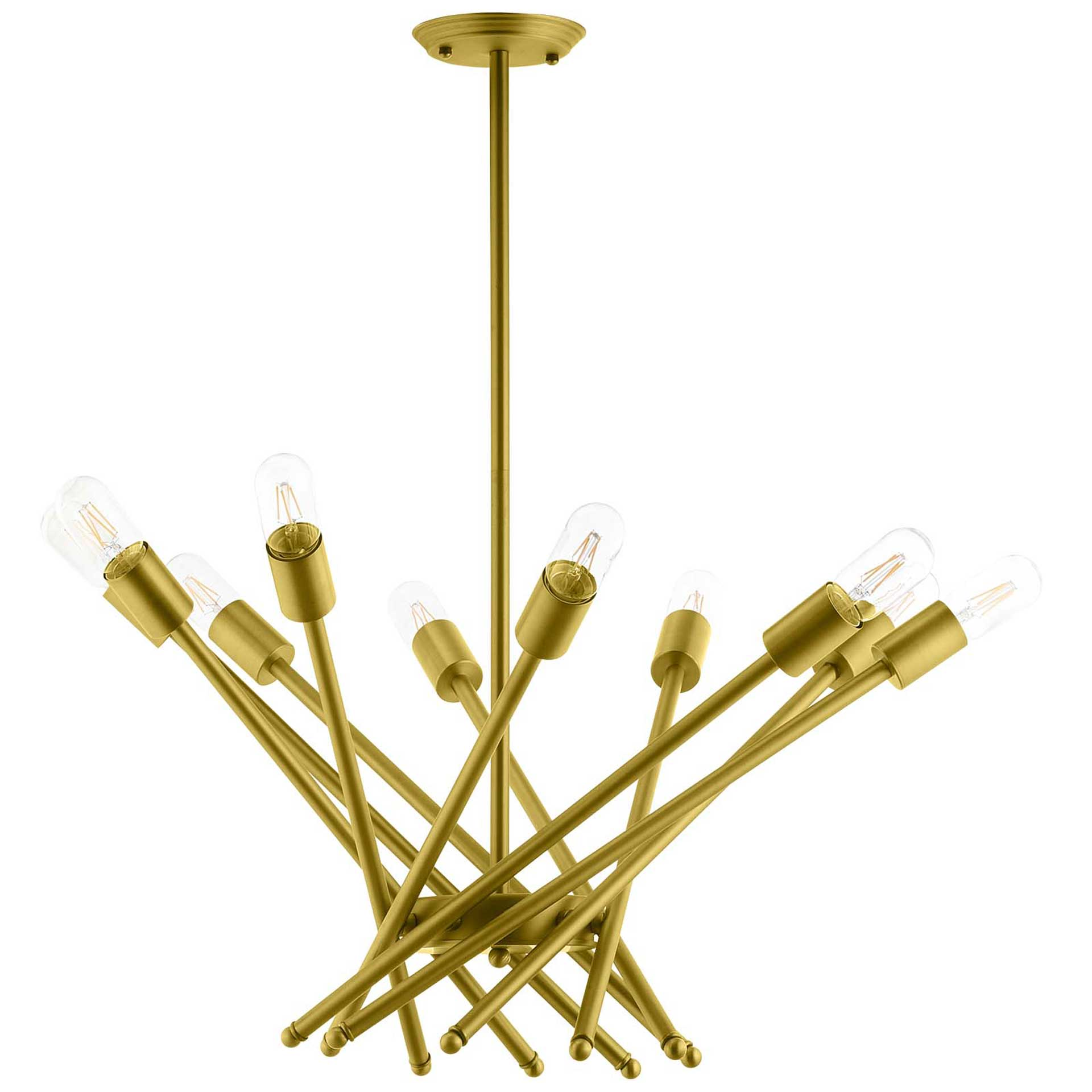 Cicely Brass Metal Pendant Light Gold