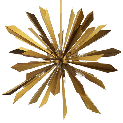 Paula Starburst Brass Chandelier Brass Gold