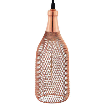 Gale Bottle-Shaped Pendant Light Rose Gold