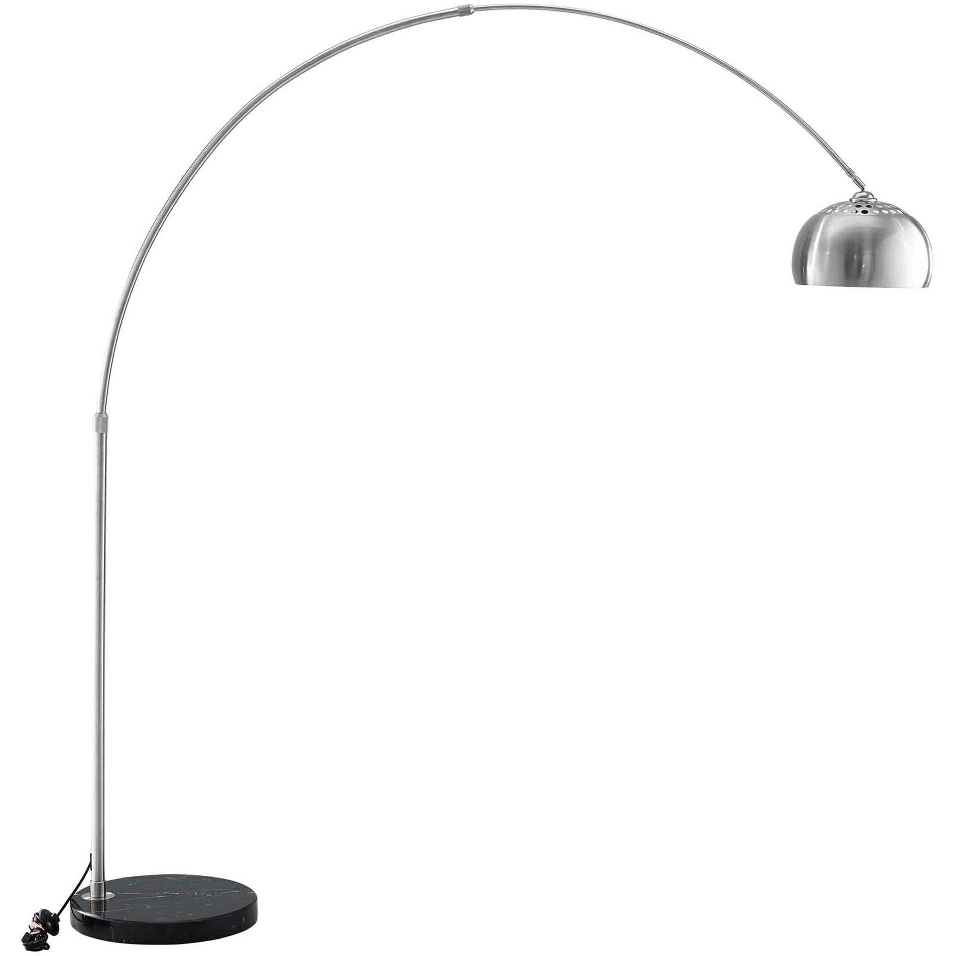 Sun Round Marble Base Floor Lamp Black