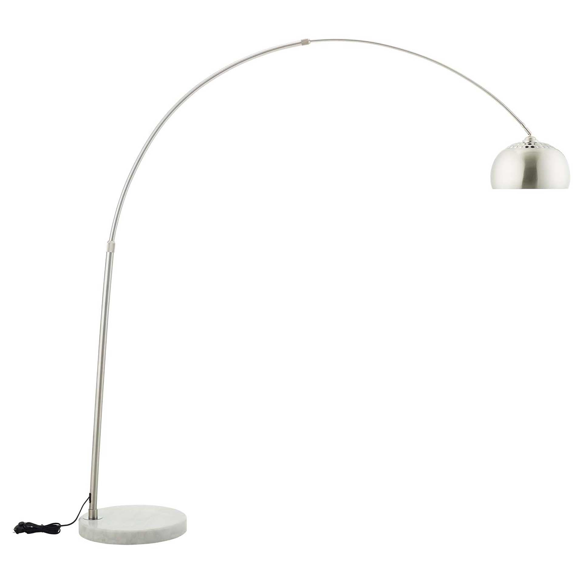 Sun Round Marble Base Floor Lamp White
