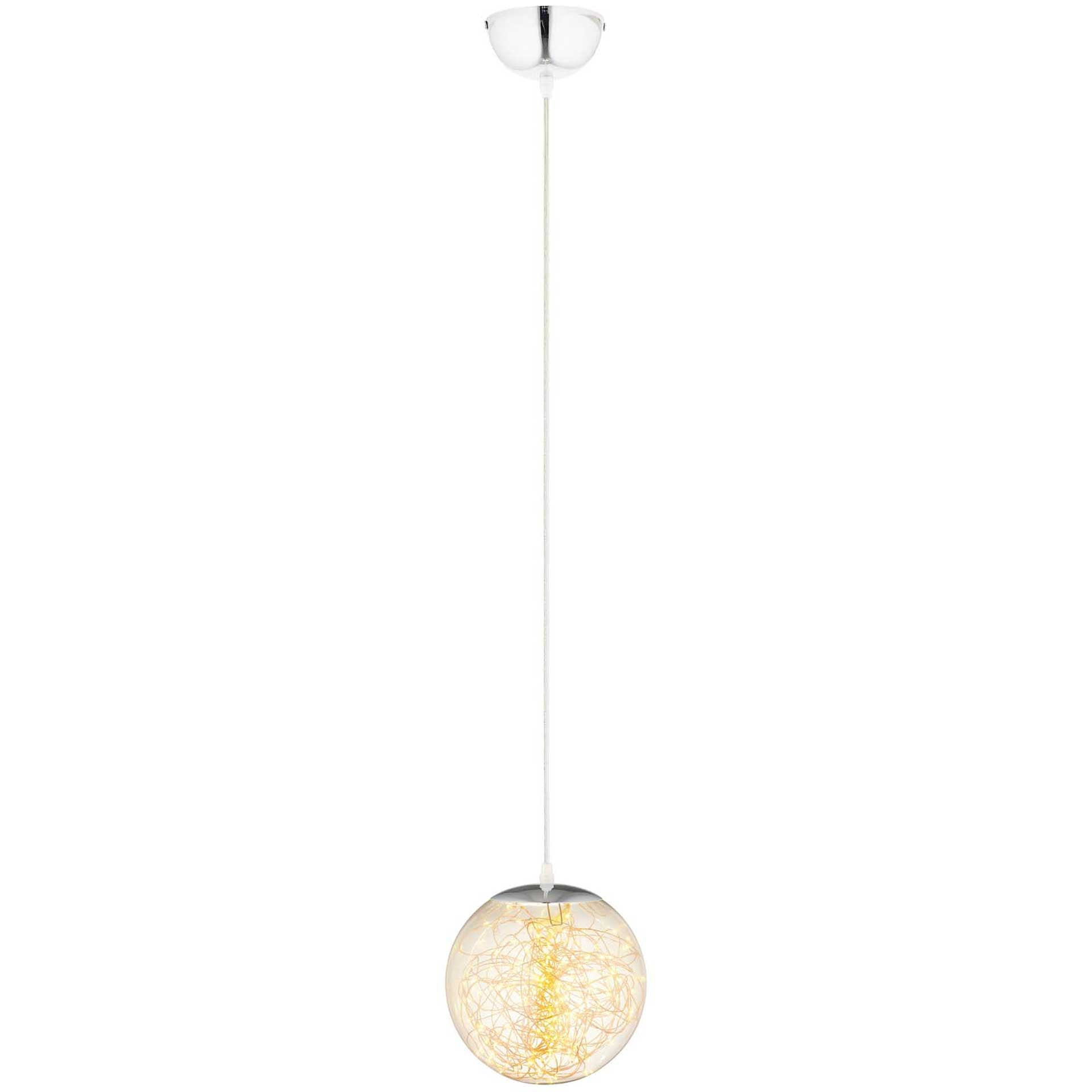 Fabius Pendant Chandelier Chrome/Clear