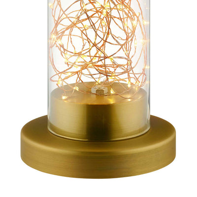 Amalia Cylindrical Table Lamp Gold/Chrome