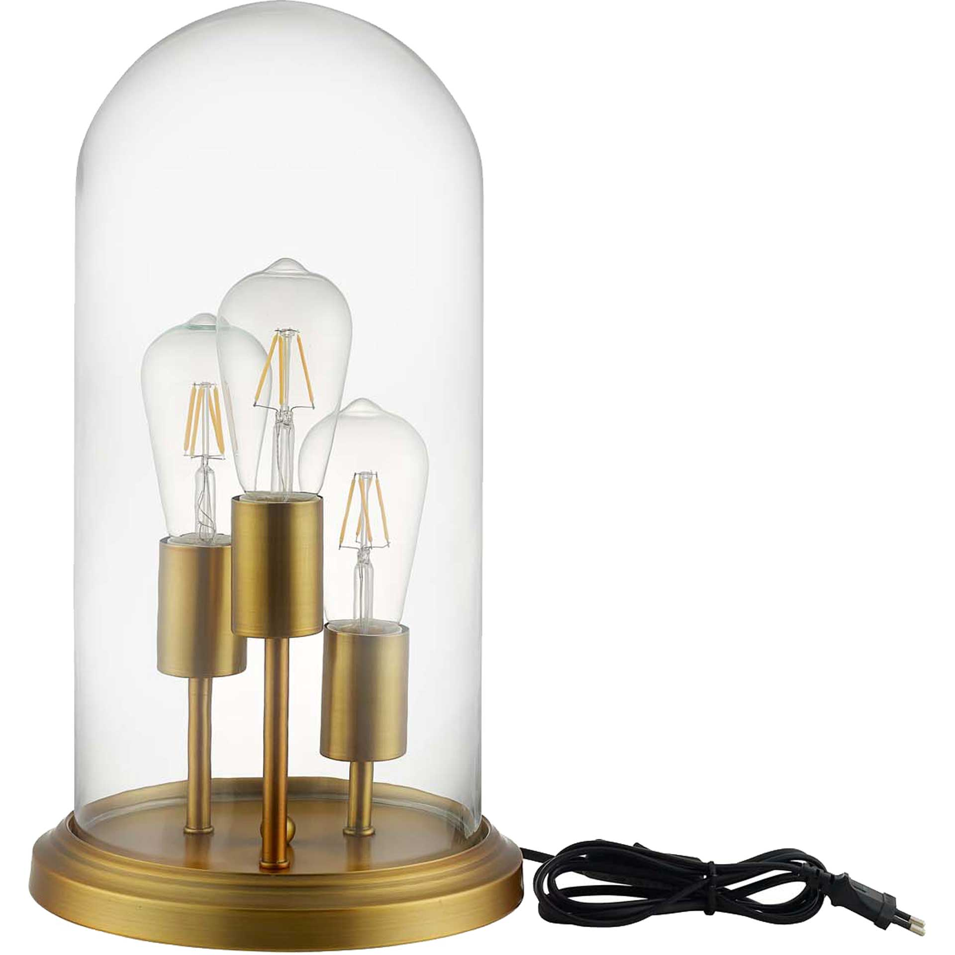 Alexis Cloche Table Lamp Brass Gold
