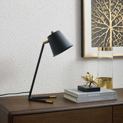 Delta Table Lamp Black